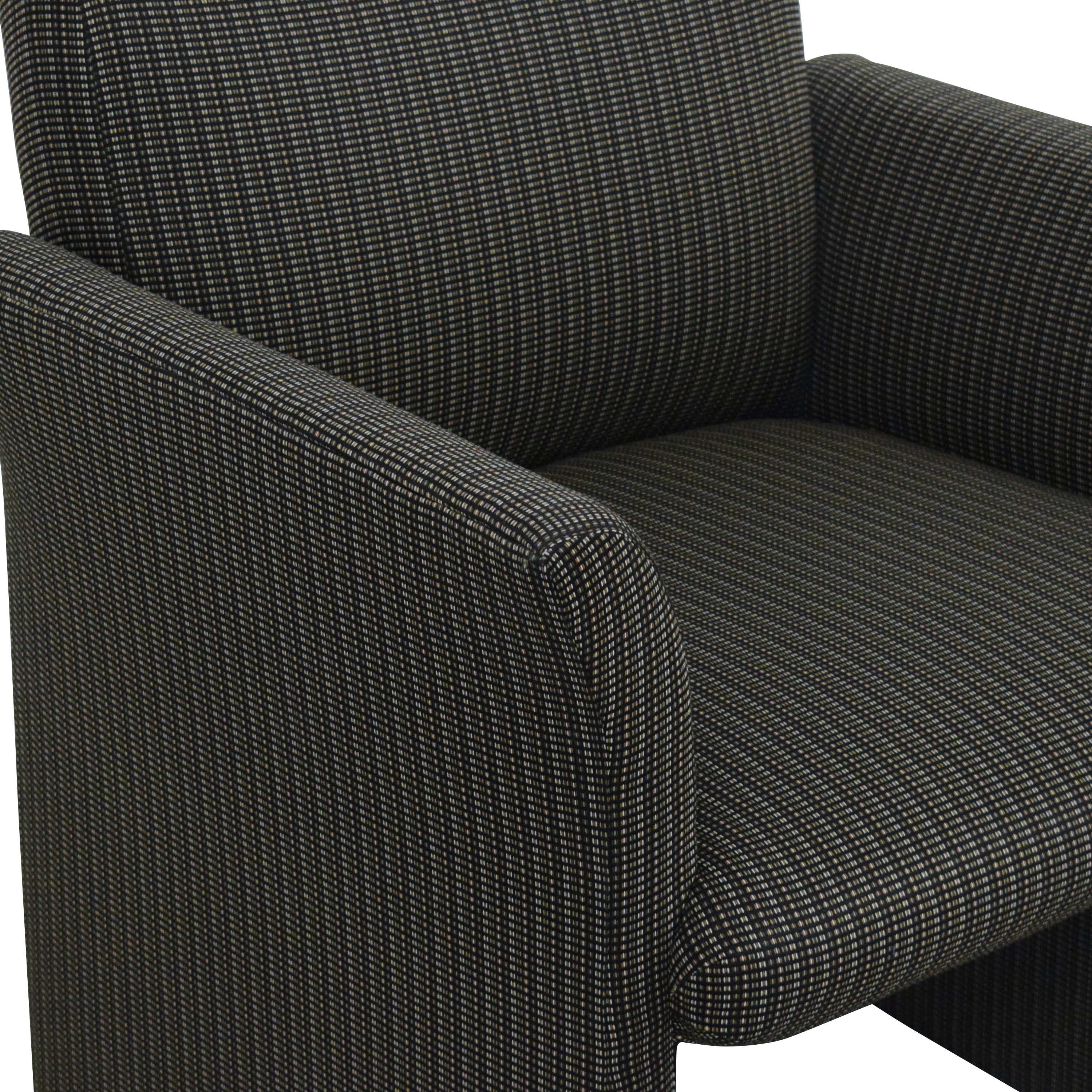 Contemporary Upholstered Club Chair second hand