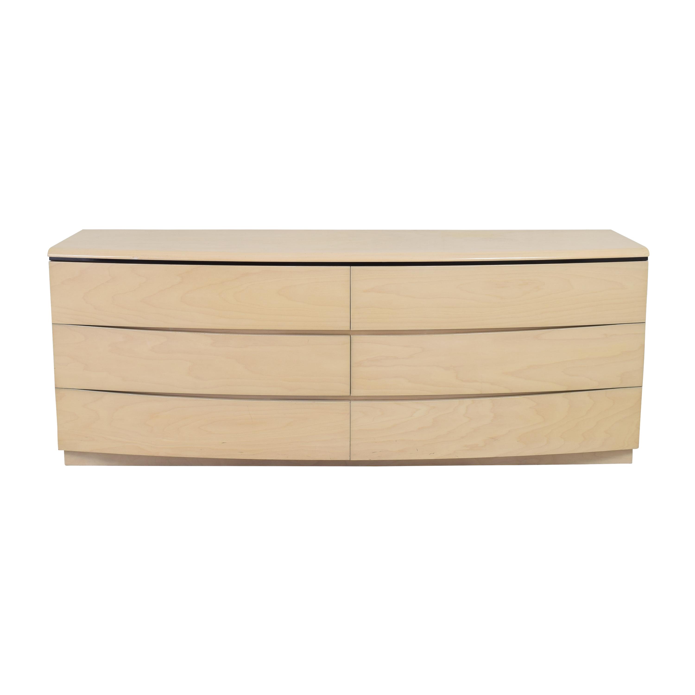 Contemporary Six Drawer Dresser / Dressers