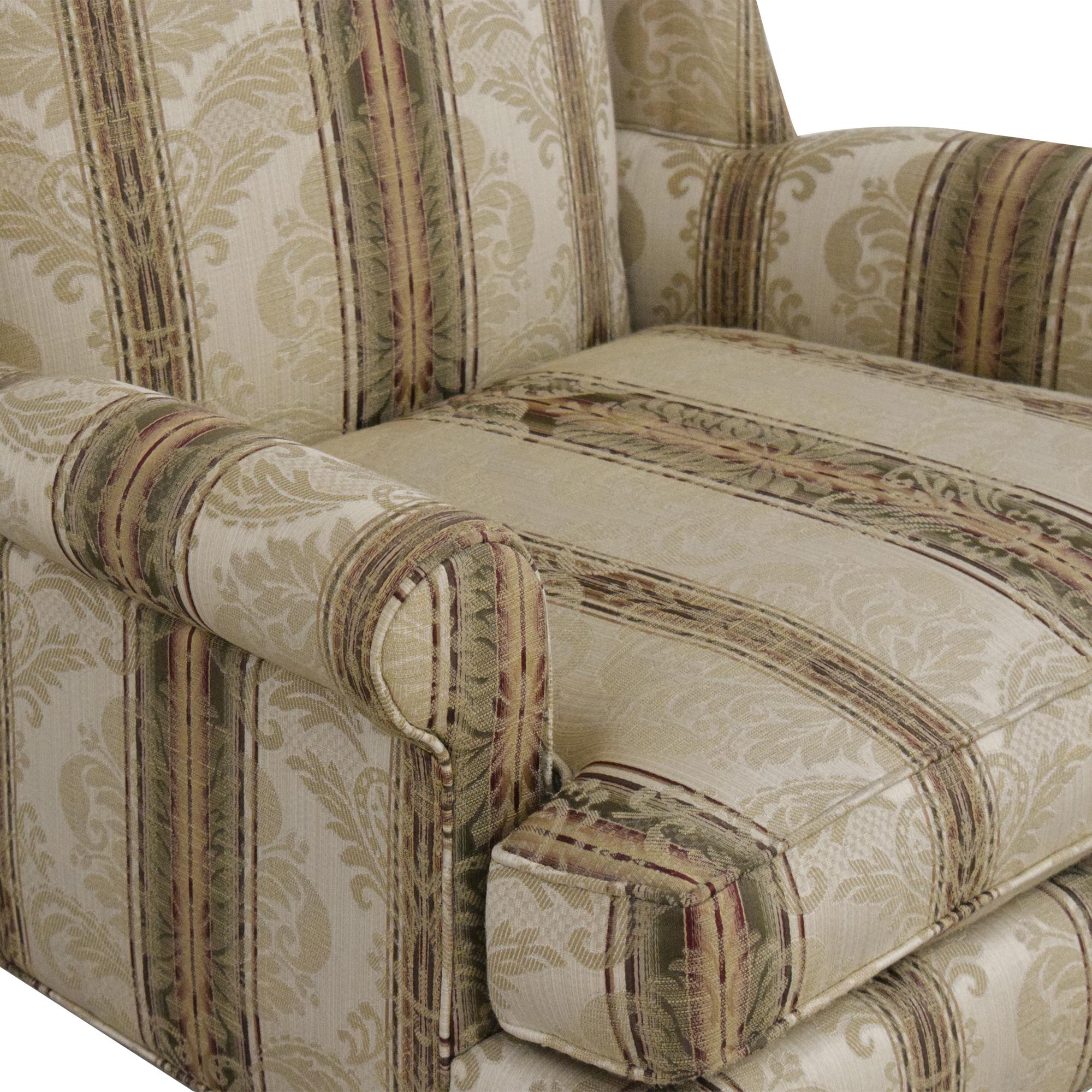 Thomasville Thomasville Damask Striped Wingback Chair