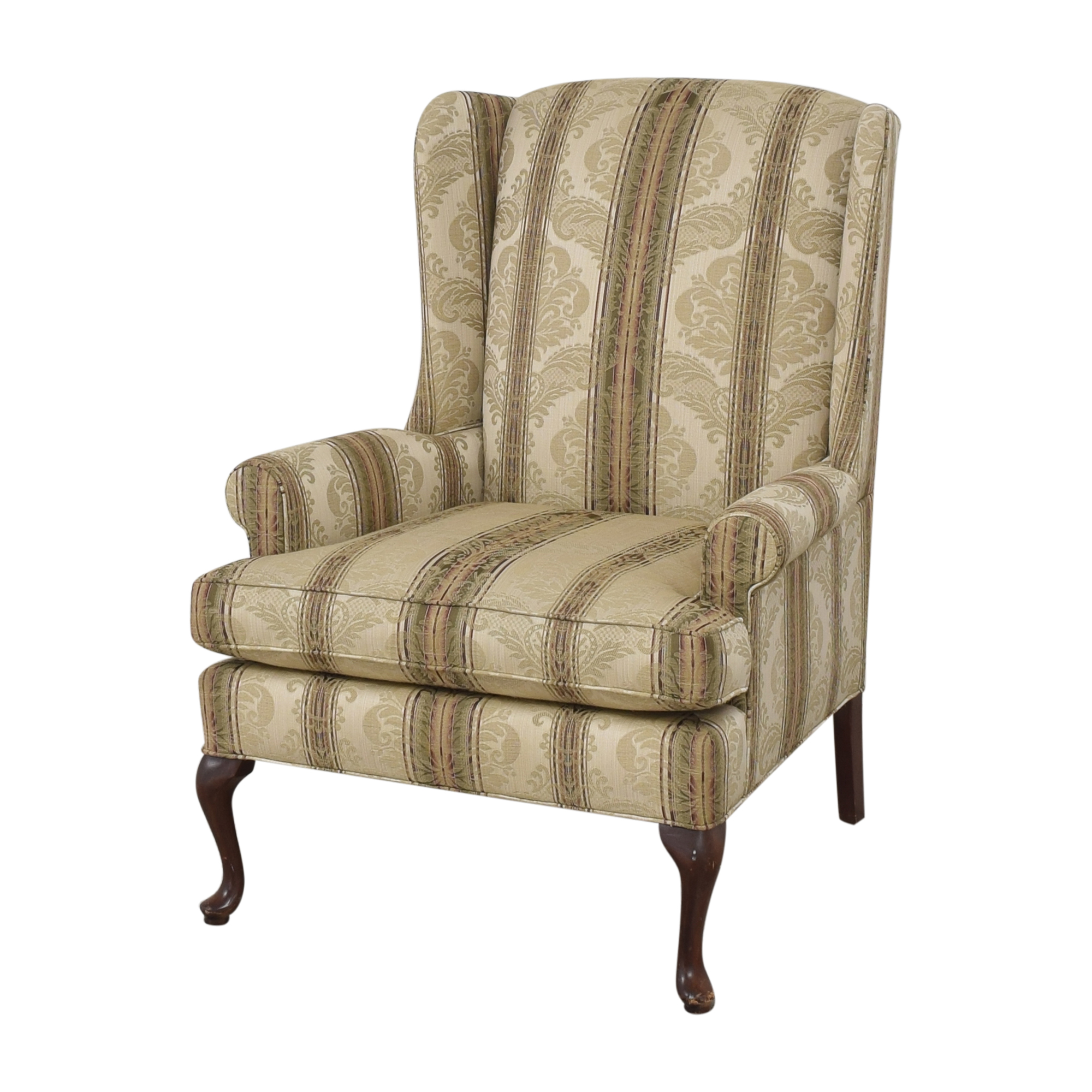 Thomasville Thomasville Damask Striped Wingback Chair price