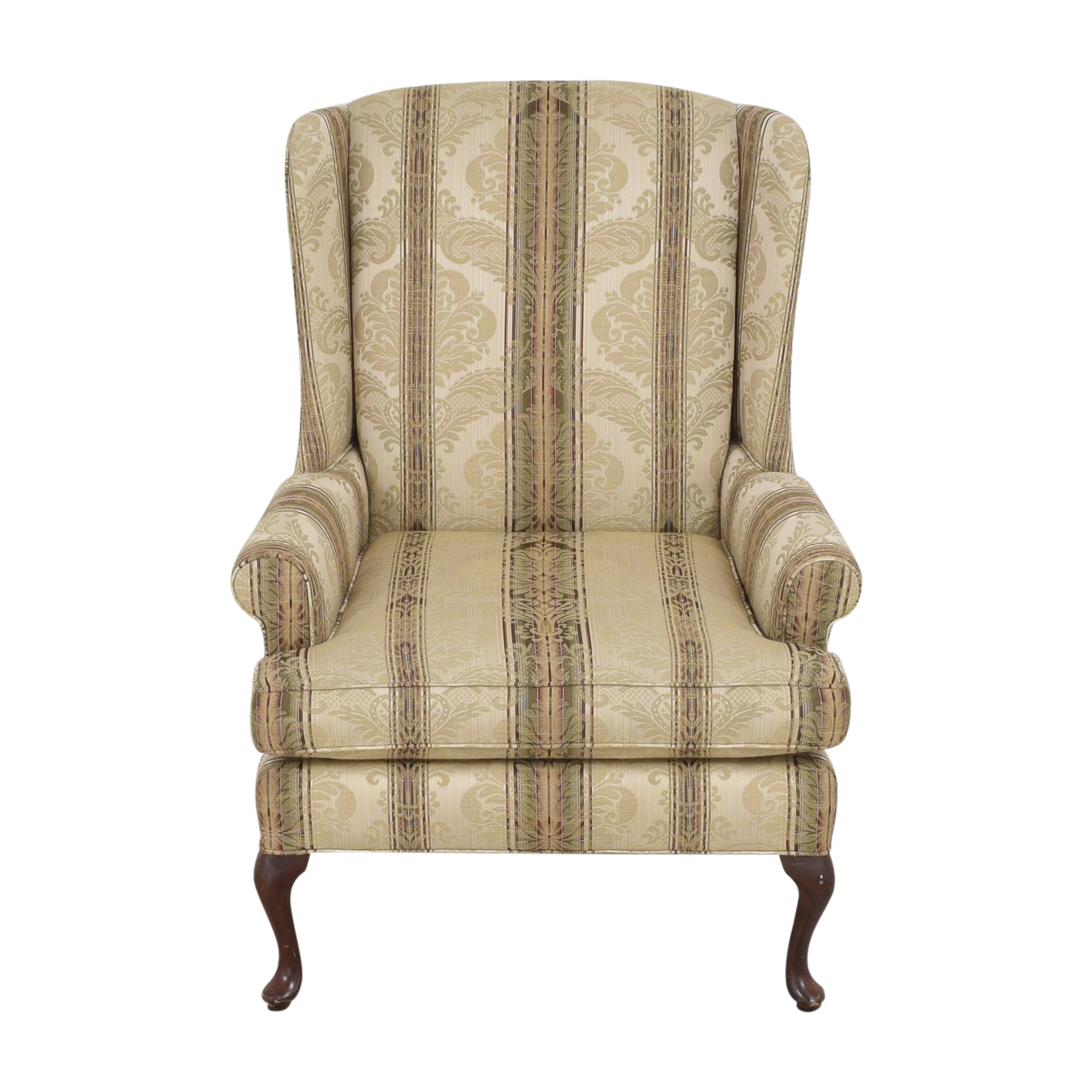 Thomasville Thomasville Damask Striped Wingback Chair dimensions