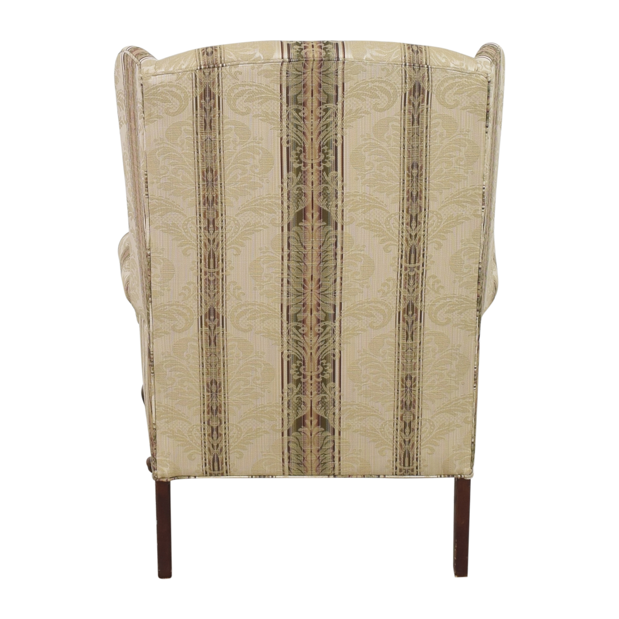 buy Thomasville Damask Striped Wingback Chair Thomasville