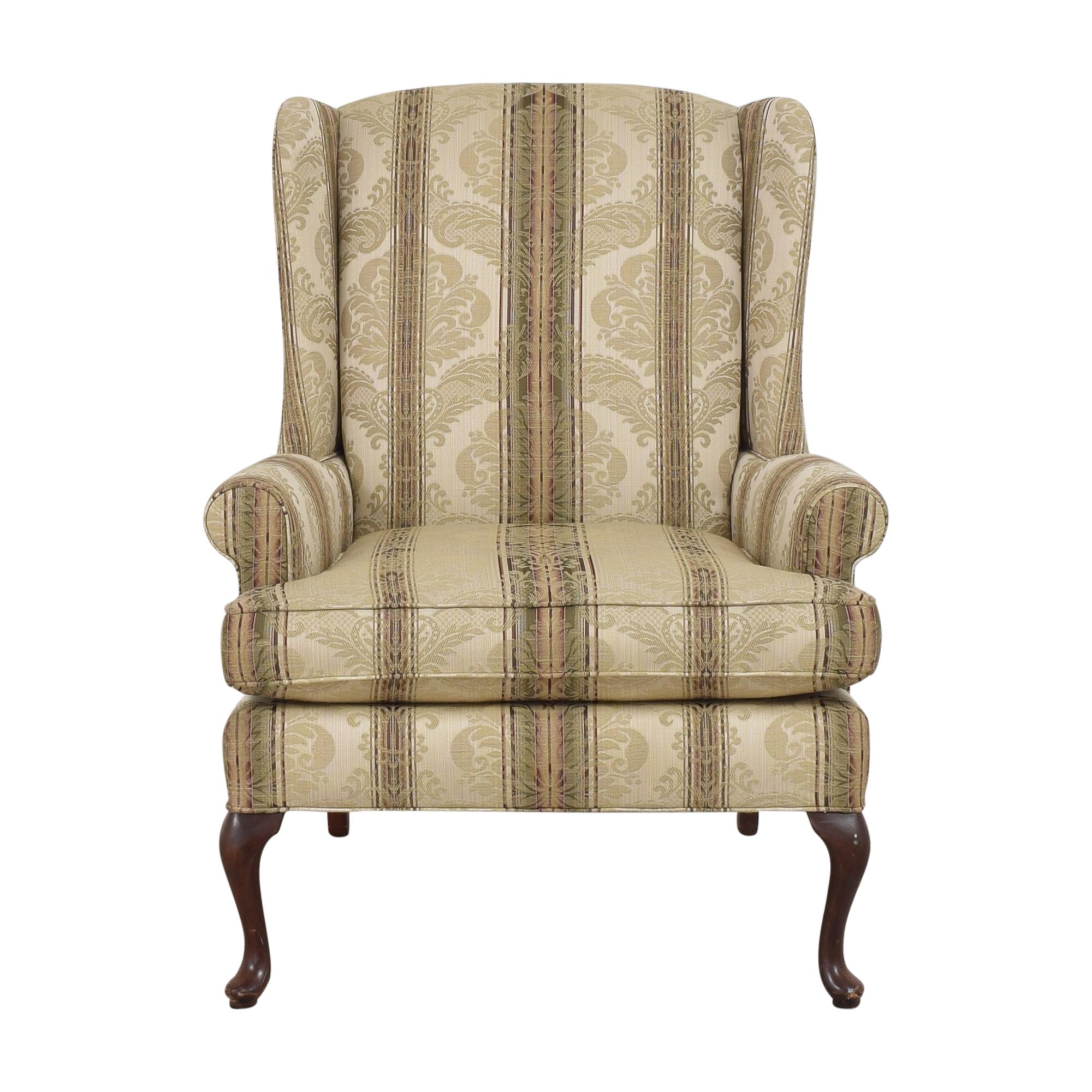 Thomasville Damask Striped Wingback Chair Thomasville