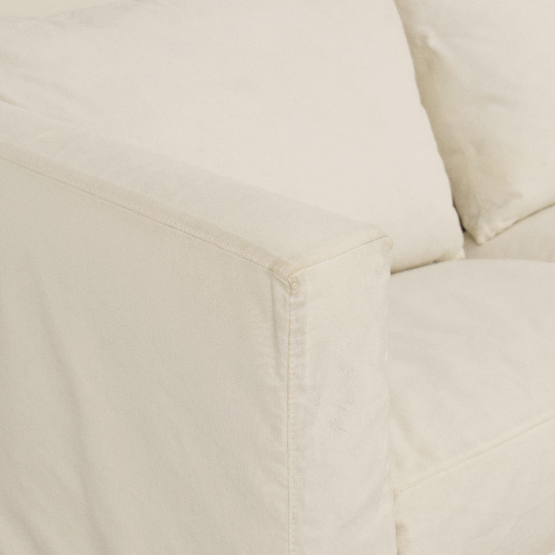 Crate & Barrel Willow Modern Slipcovered Queen Sleeper Sofa / Sofa Beds