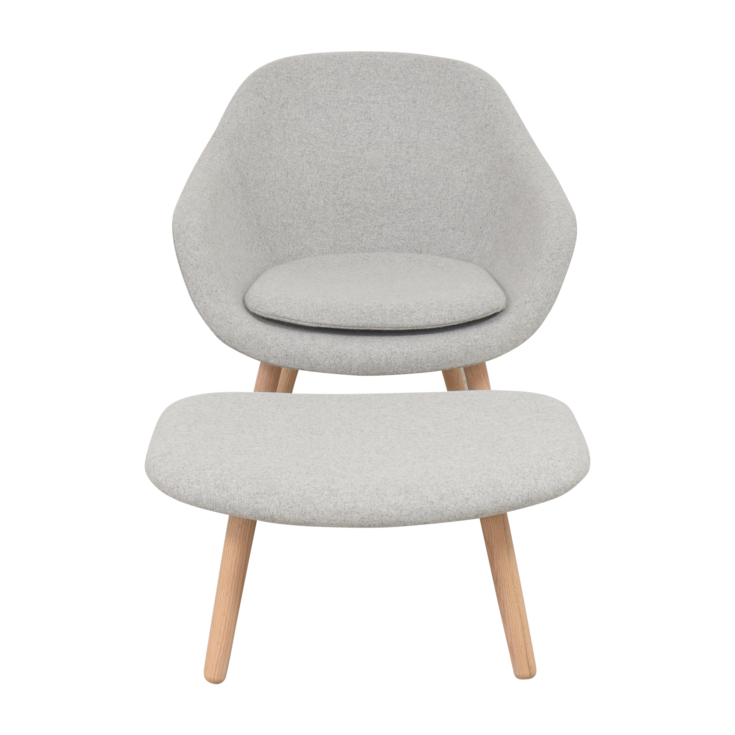 Hay Hay A Lounge 82 Arm Chair with Ottoman gray
