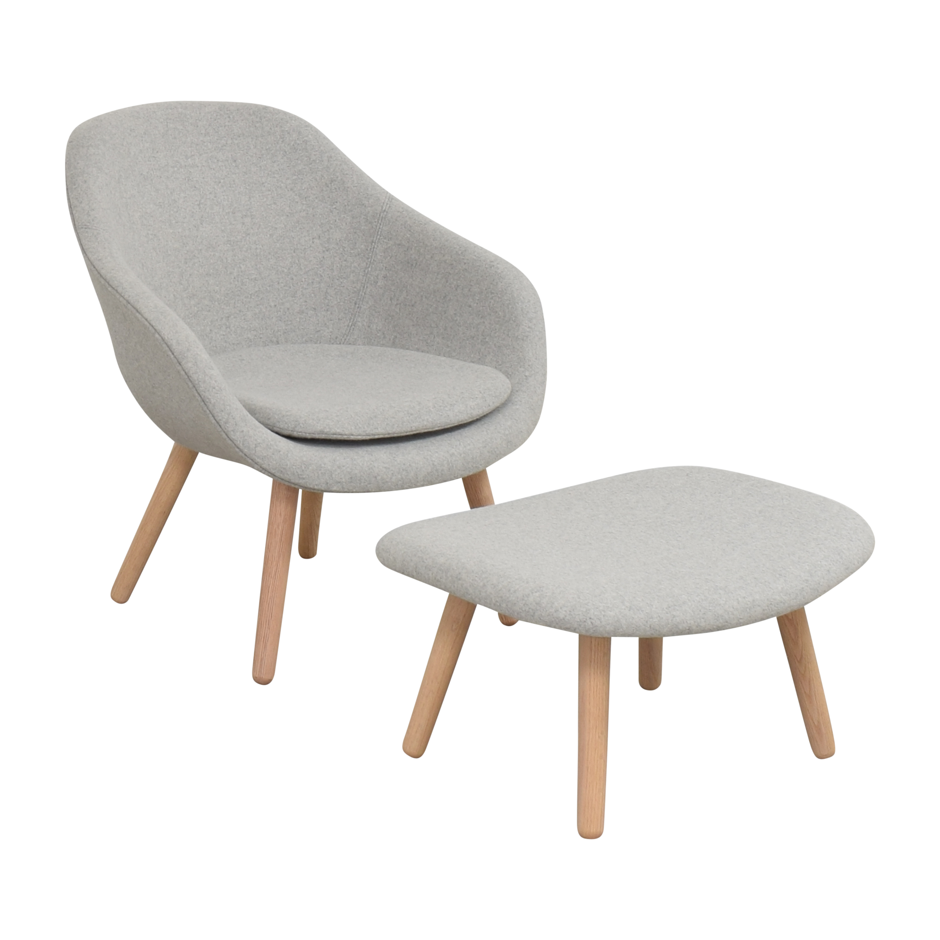 Hay Hay A Lounge 82 Arm Chair with Ottoman