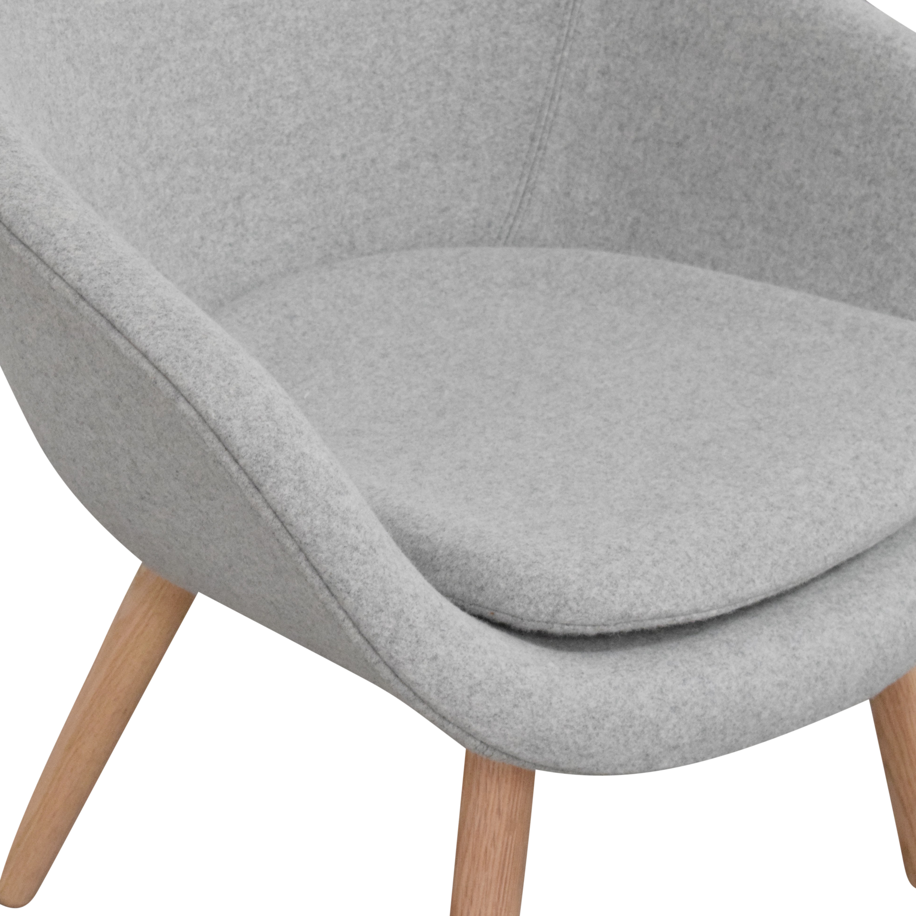 shop Hay A Lounge 82 Arm Chair with Ottoman Hay Accent Chairs