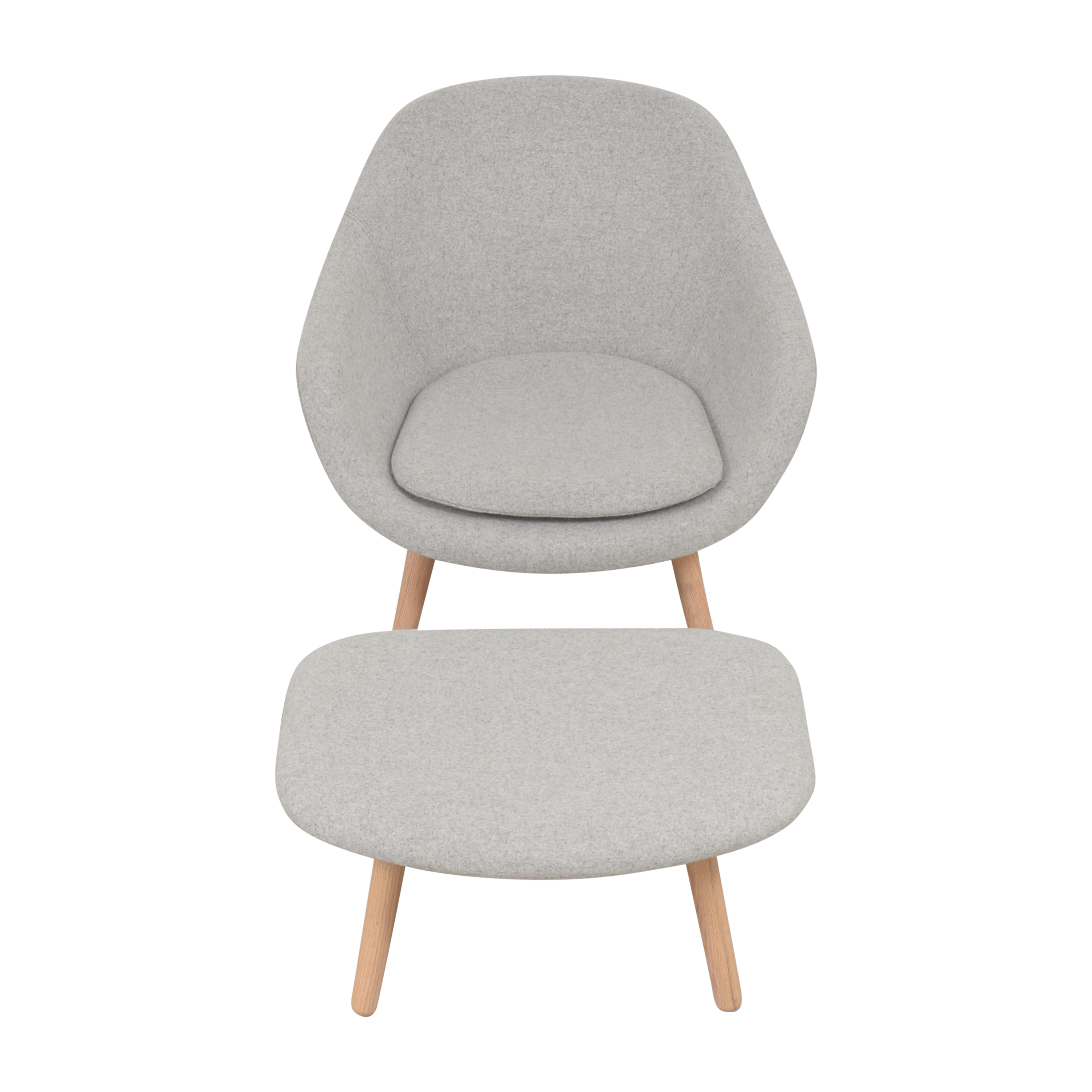 buy Hay A Lounge 82 Arm Chair with Ottoman Hay Accent Chairs