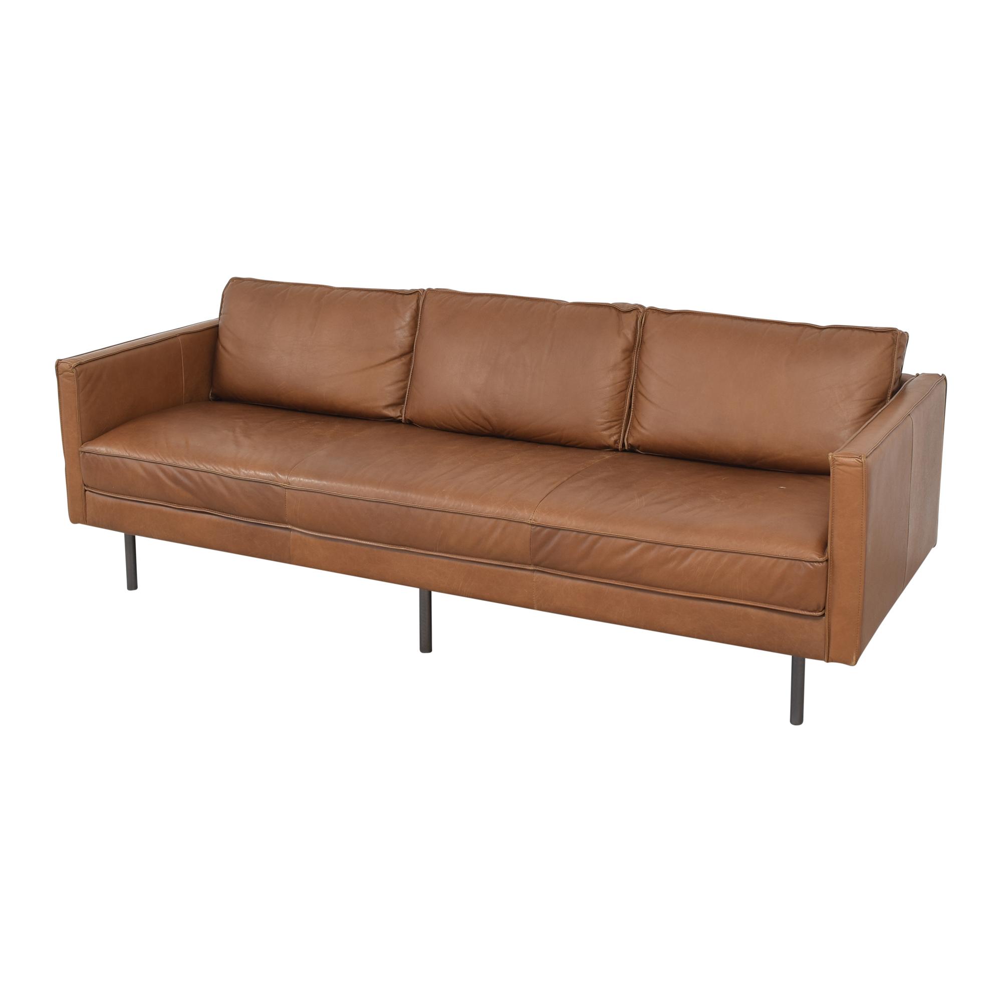 West Elm West Elm Axel Bench Cushion Sofa brown