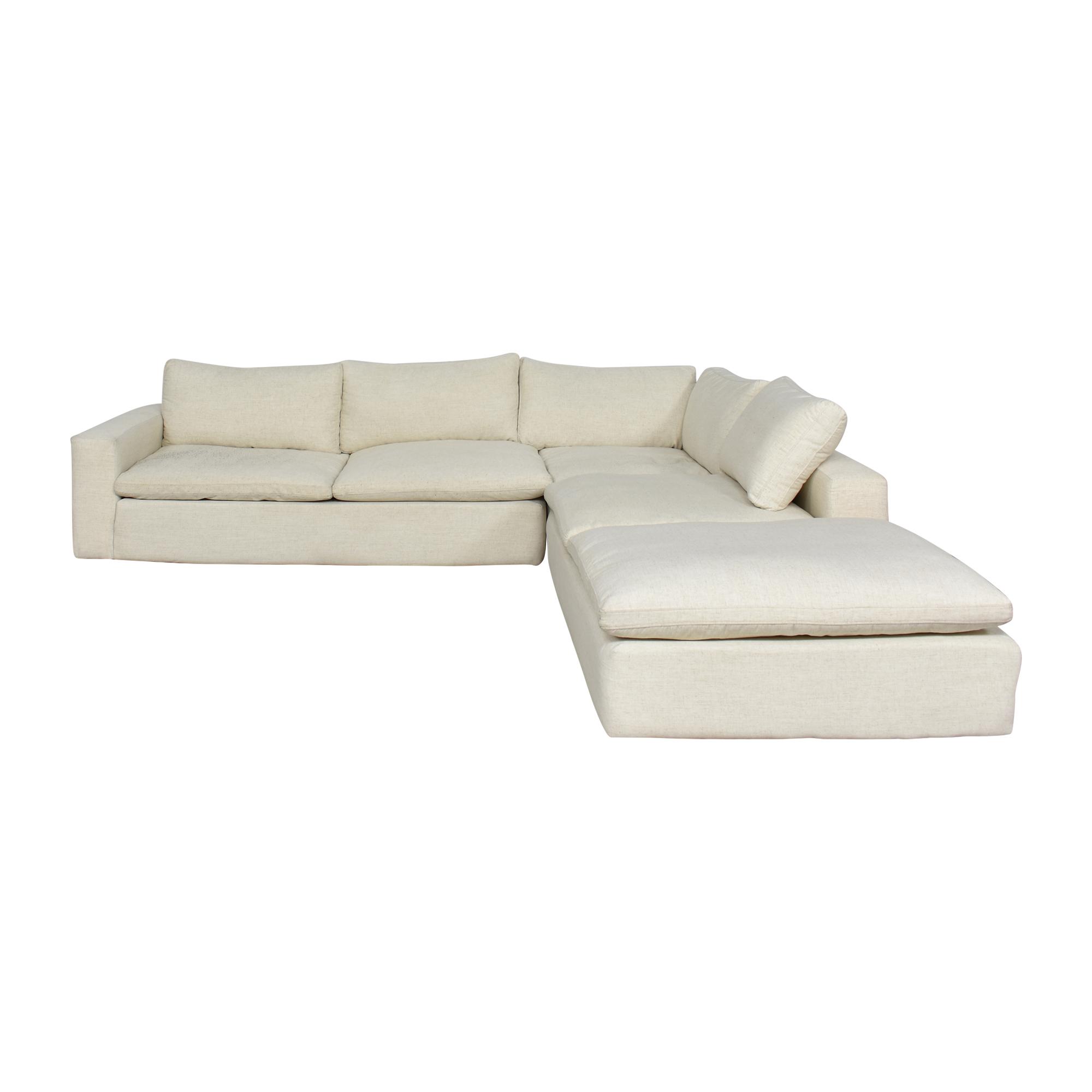 Living Spaces Utopia Three Piece Sectional Sofa / Sofas