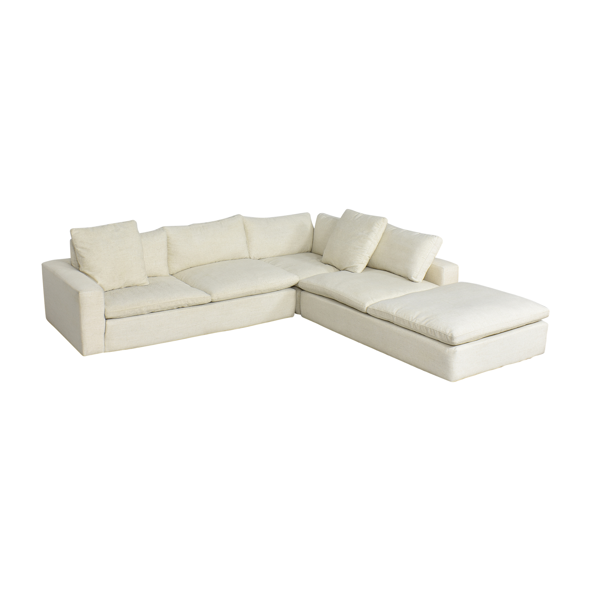 shop Living Spaces Utopia Three Piece Sectional Sofa Living Spaces