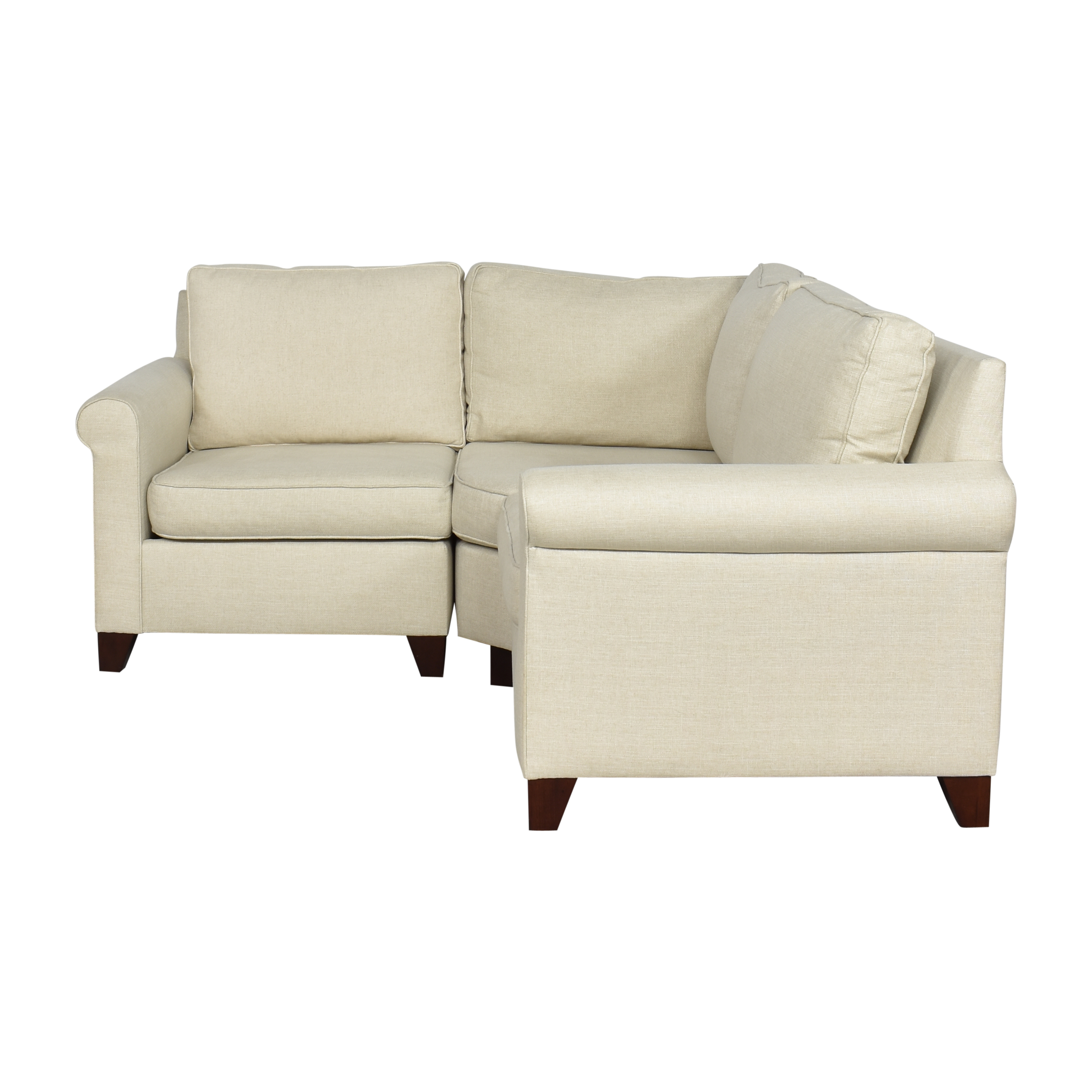 Pottery Barn Pottery Barn Cameron Roll Arm Sectional Sofa Sectionals