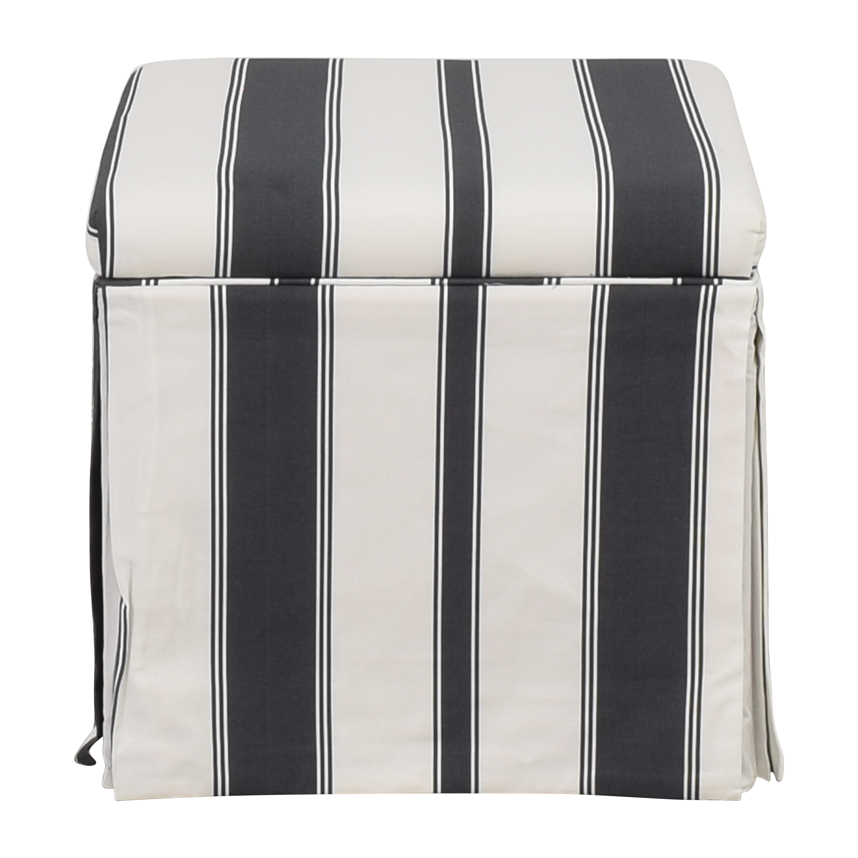 The Inside The Inside Skirted Storage Ottoman used