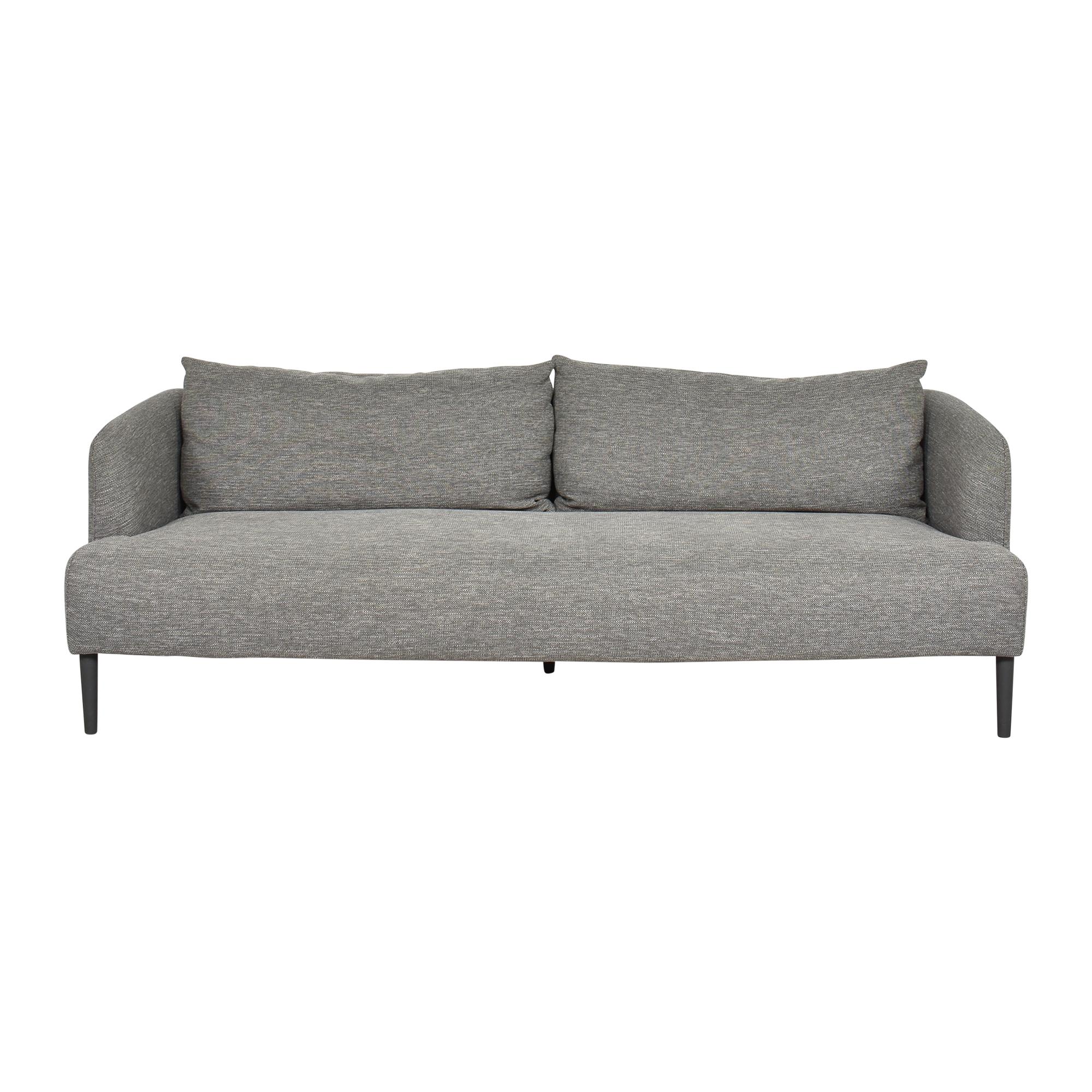 CB2 CB2 Ronan Bench Cushion Sofa dimensions