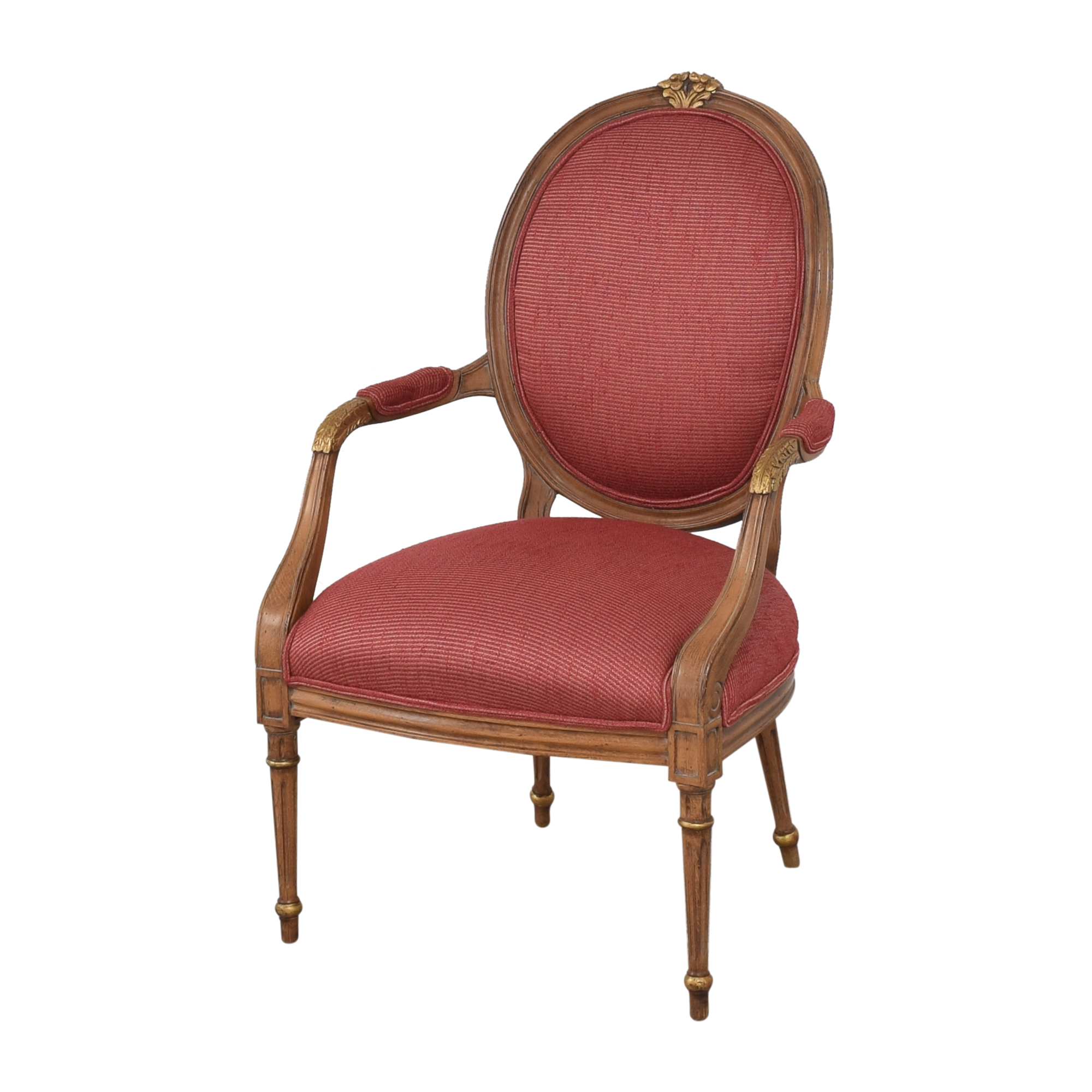 French Regency Upholstered Arm Chairs nyc