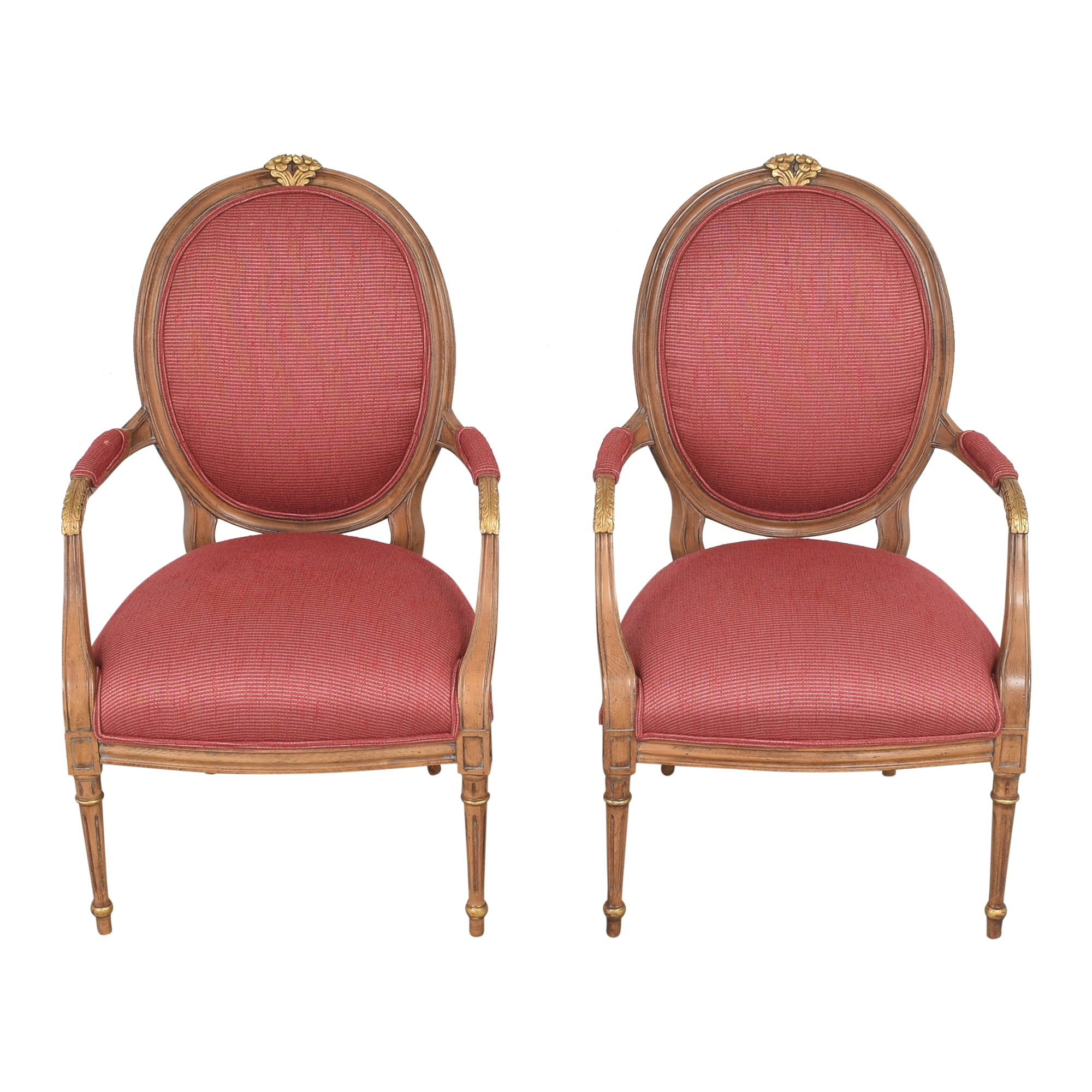 shop French Regency Upholstered Arm Chairs  Chairs