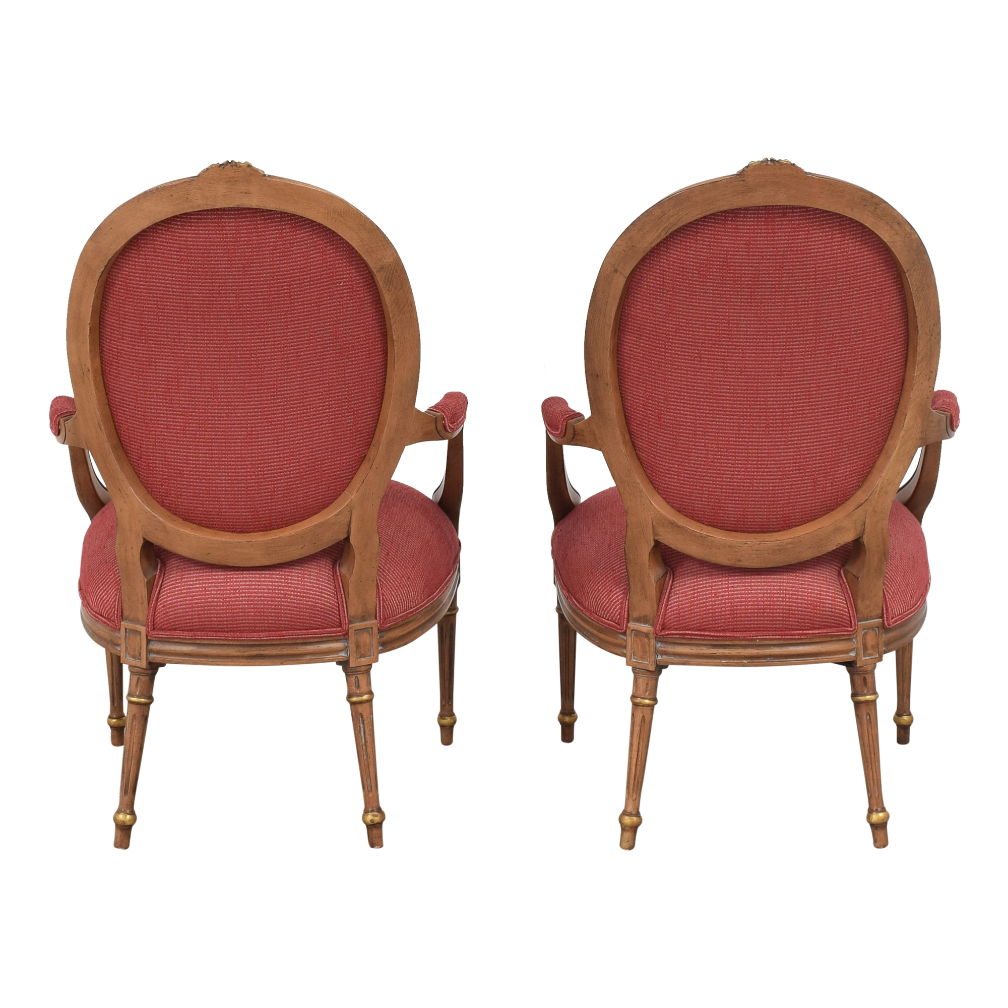 French Regency Upholstered Arm Chairs on sale