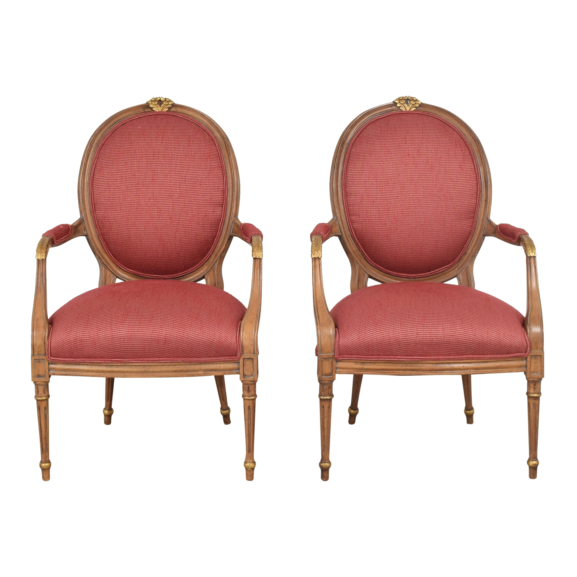 French Regency Upholstered Arm Chairs discount