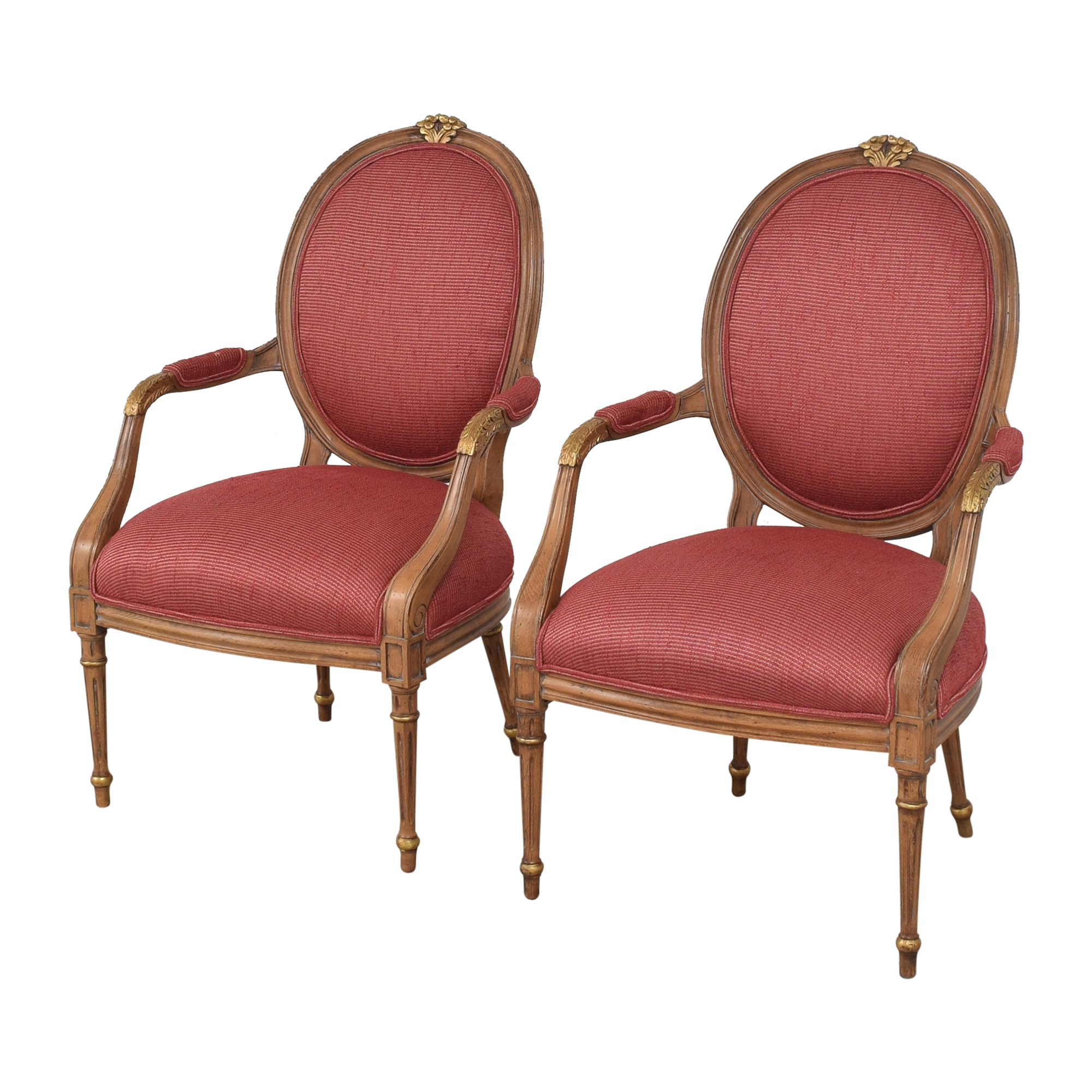 French Regency Upholstered Arm Chairs nj