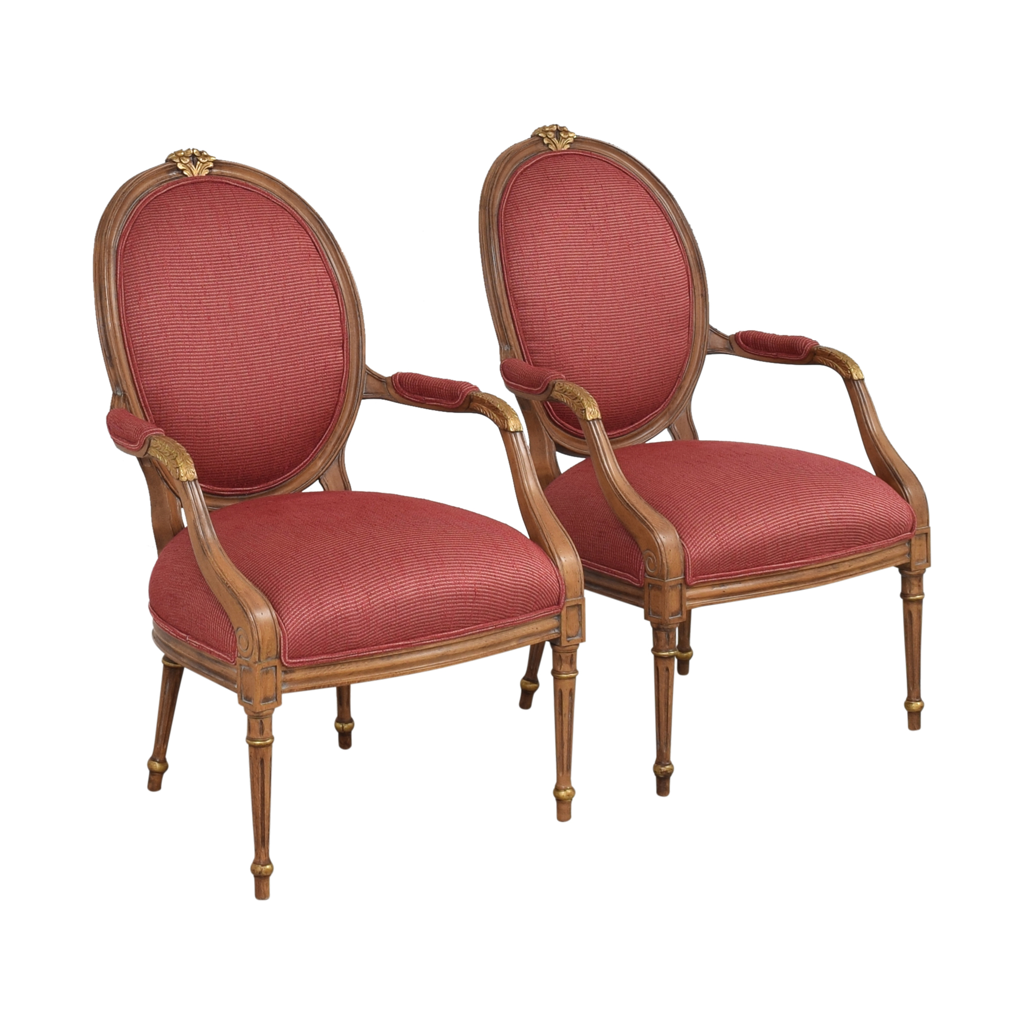 French Regency Upholstered Arm Chairs sale