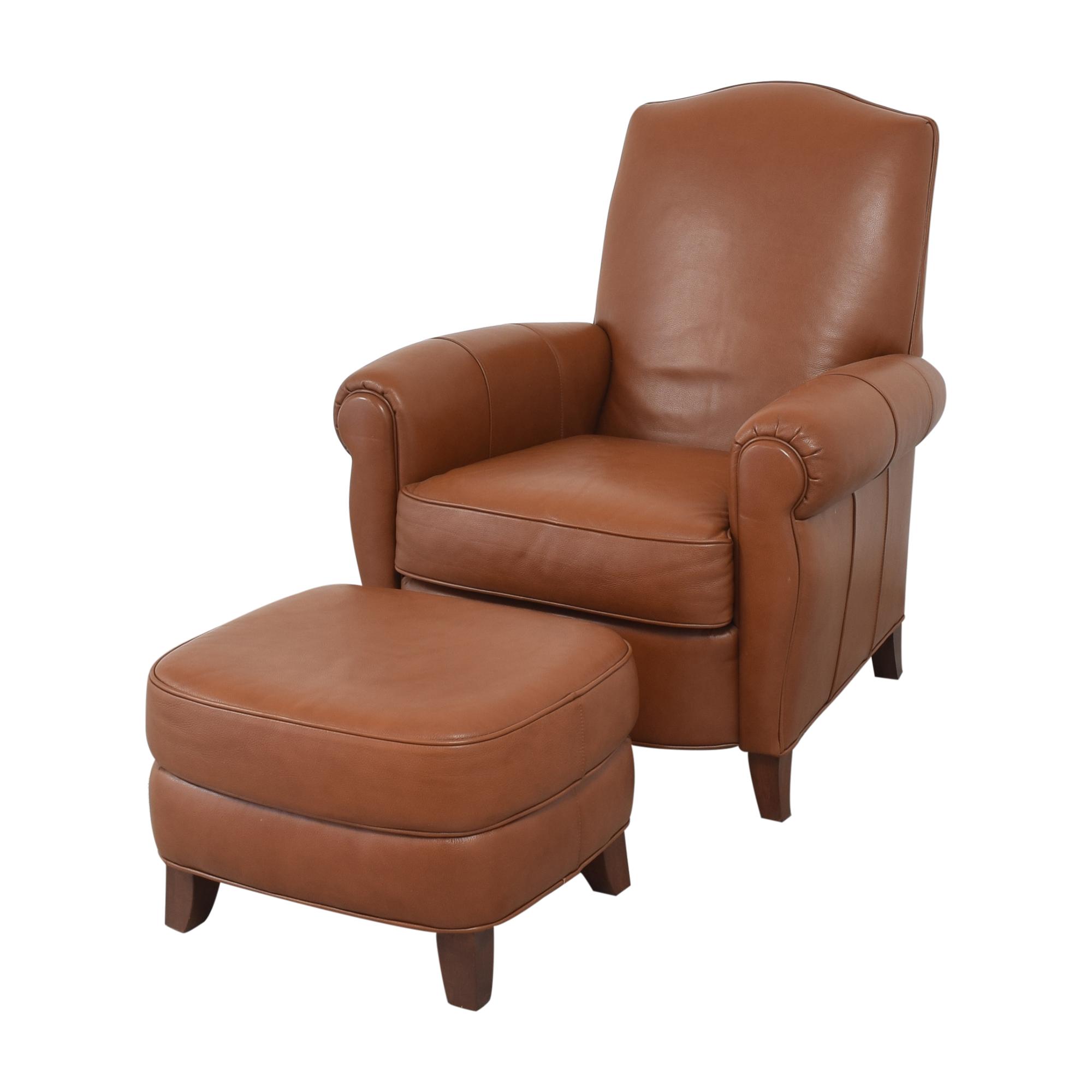 Ethan Allen Ethan Allen Roll Arm Chair with Ottoman price