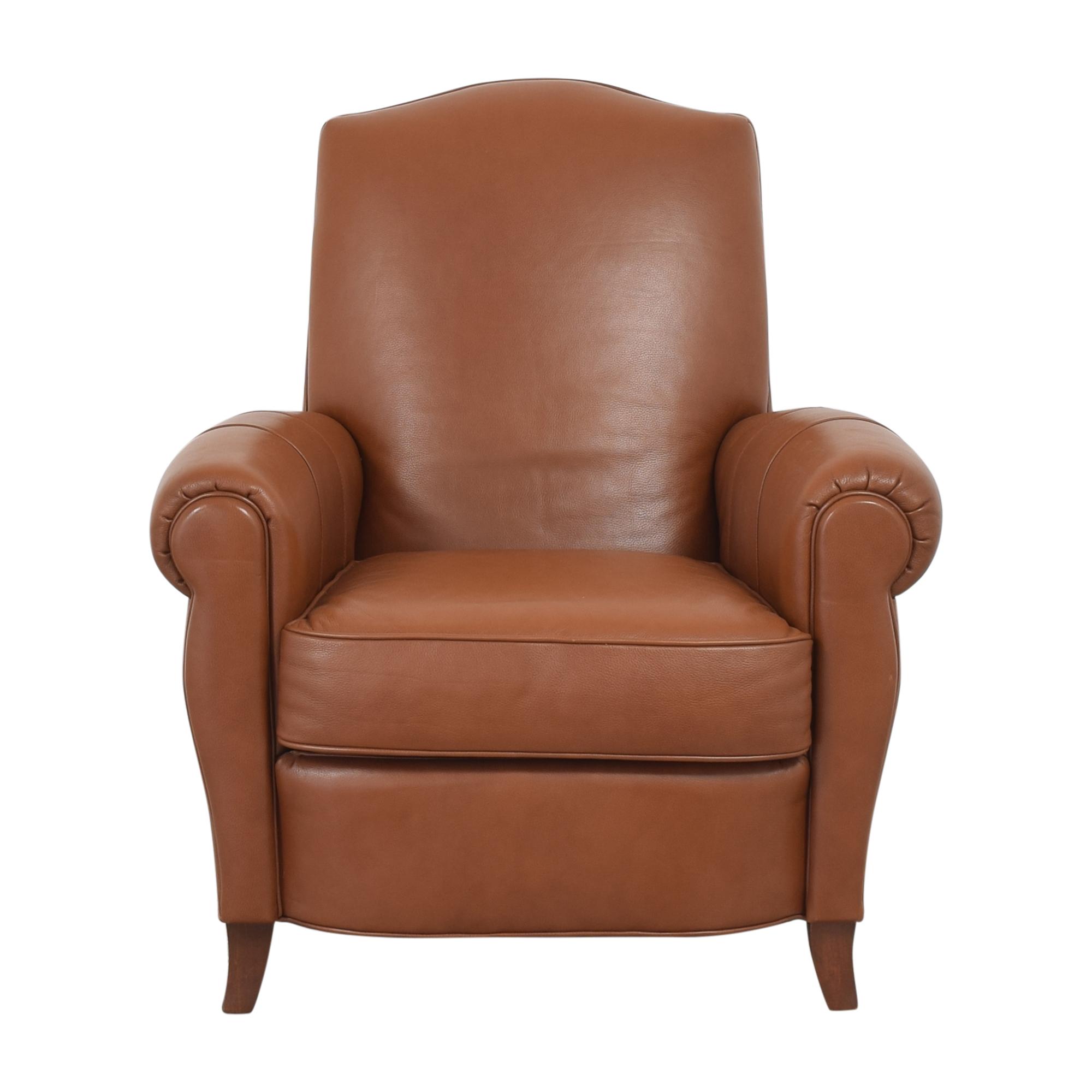Ethan Allen Ethan Allen Roll Arm Chair with Ottoman ct