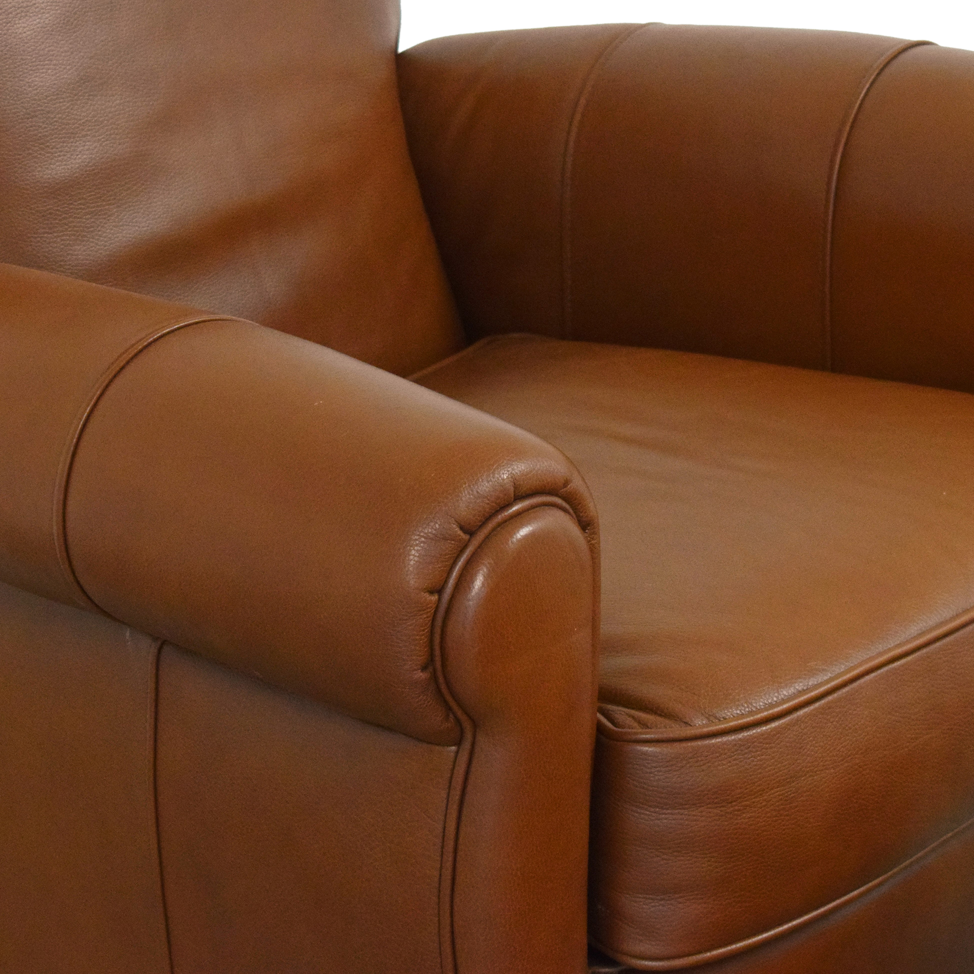 Ethan Allen Roll Arm Chair with Ottoman sale