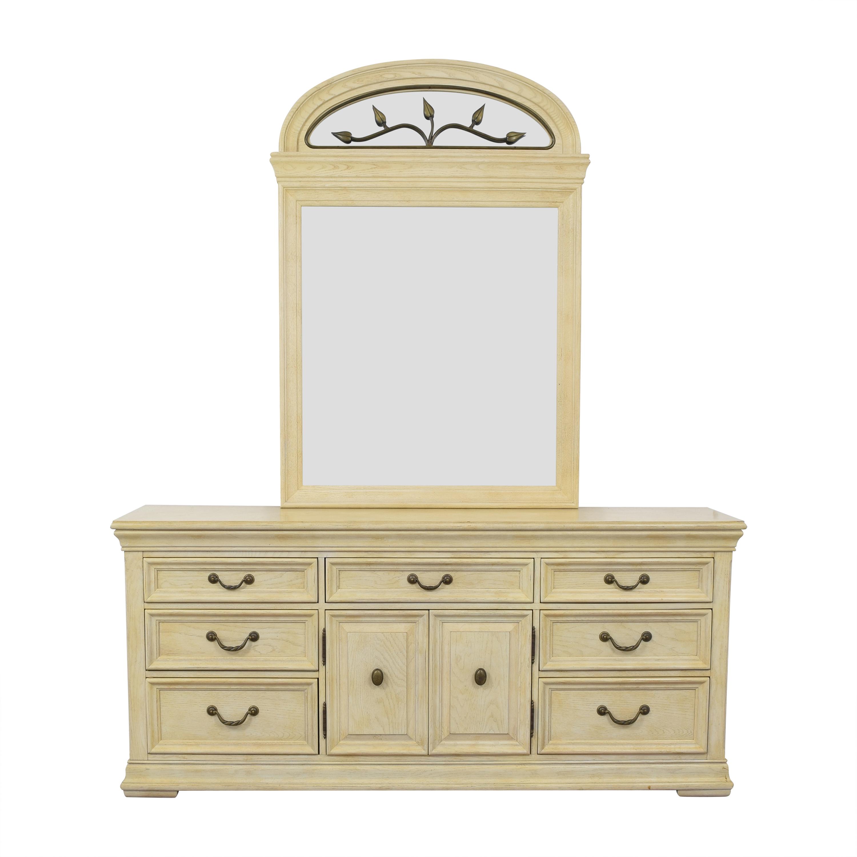 buy Bernhardt Napa Valley Triple Dresser with Mirror Bernhardt