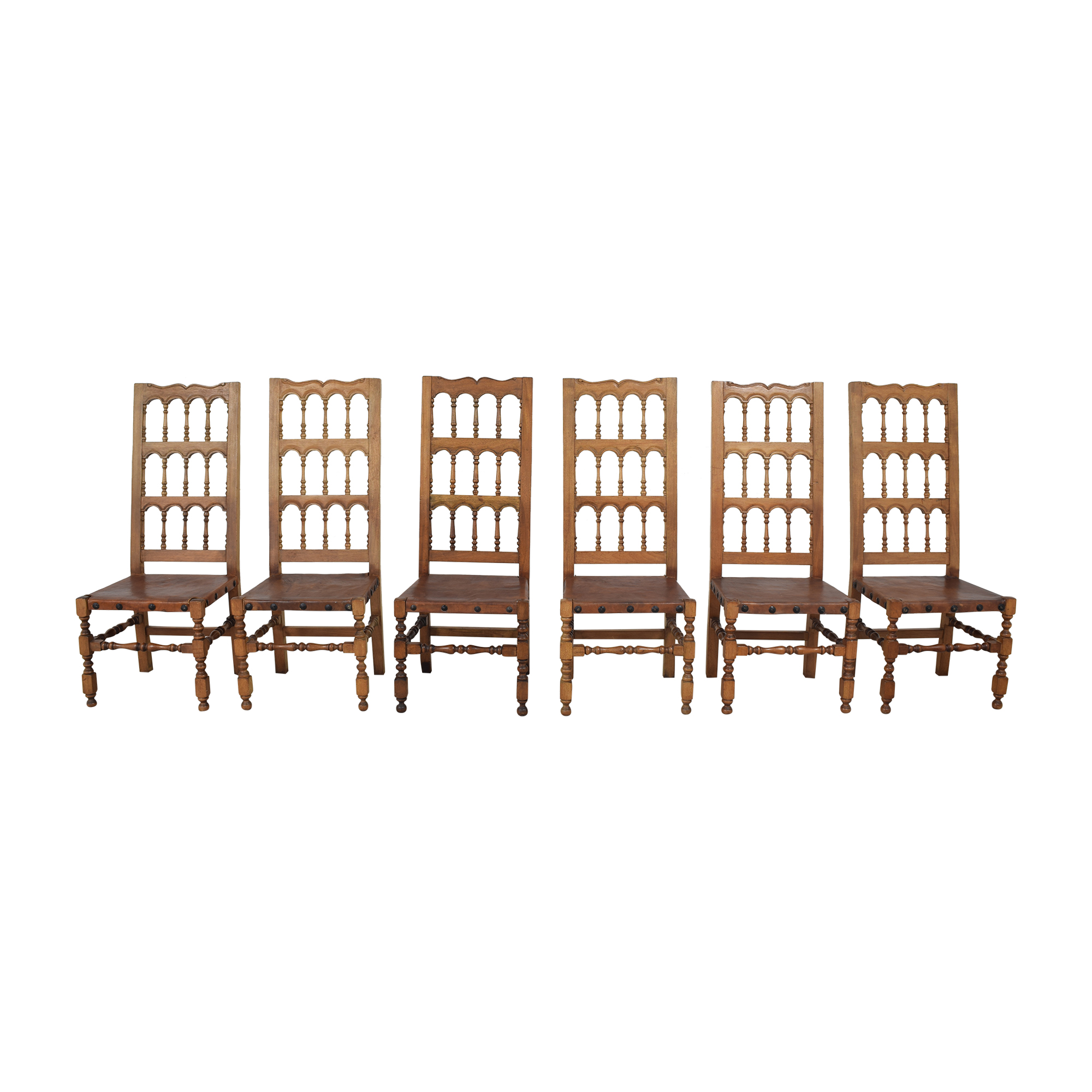 Spanish Revival Style Dining Chairs second hand