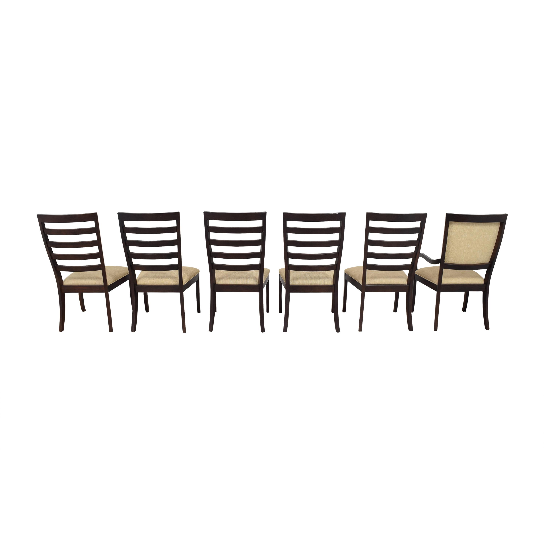 Stanley Furniture Stanley Slat Dining Chairs beige and dark brown