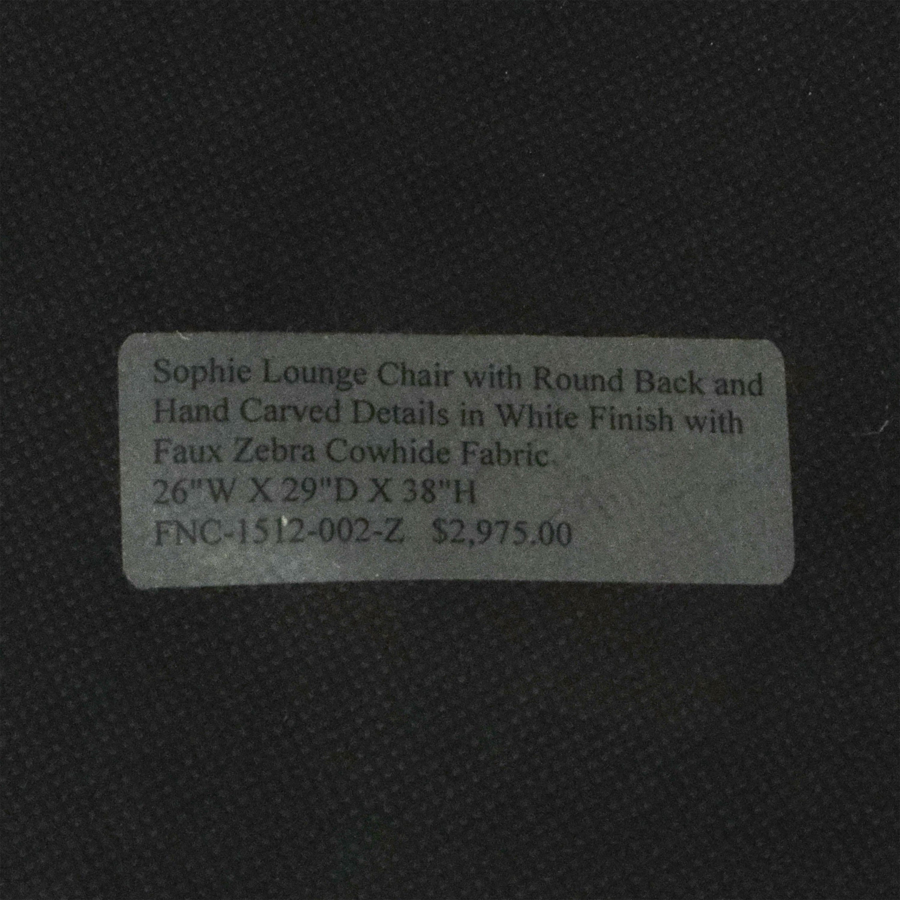 Oly Studio Oly Studio Sophie Lounge Chair brown and white