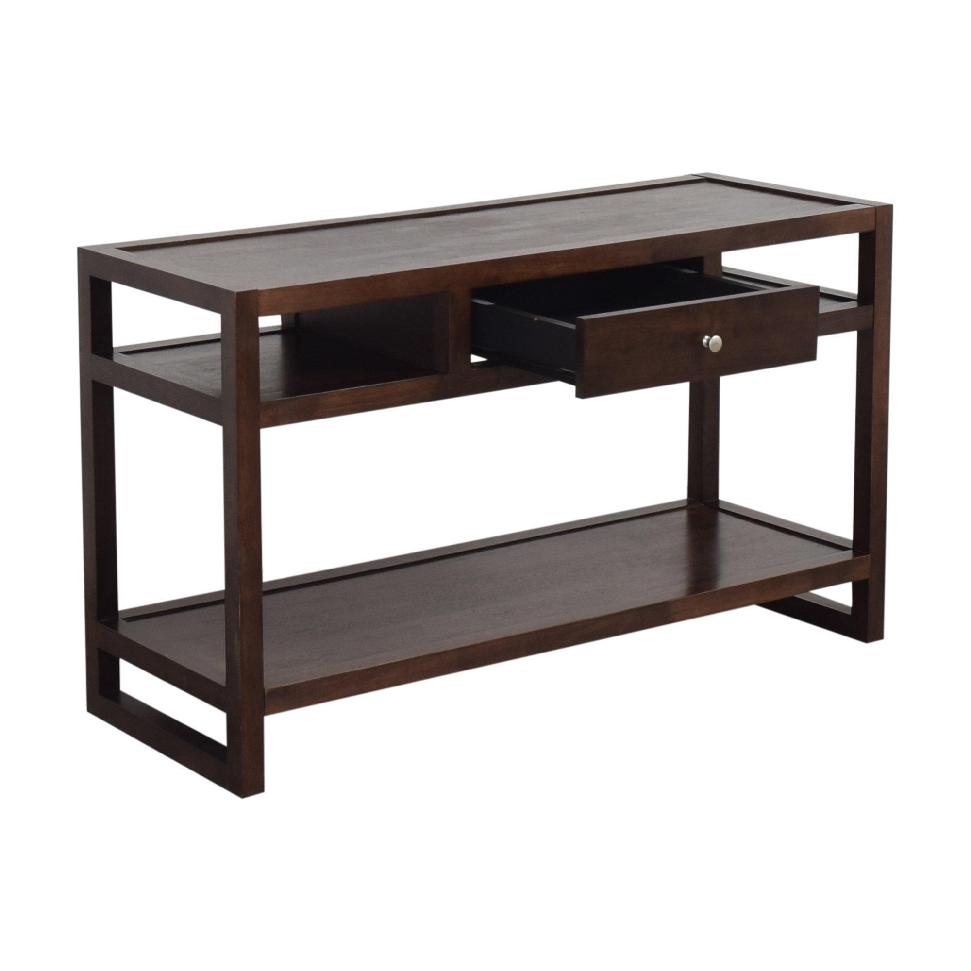 Overstock Overstock Single Drawer Console Table second hand