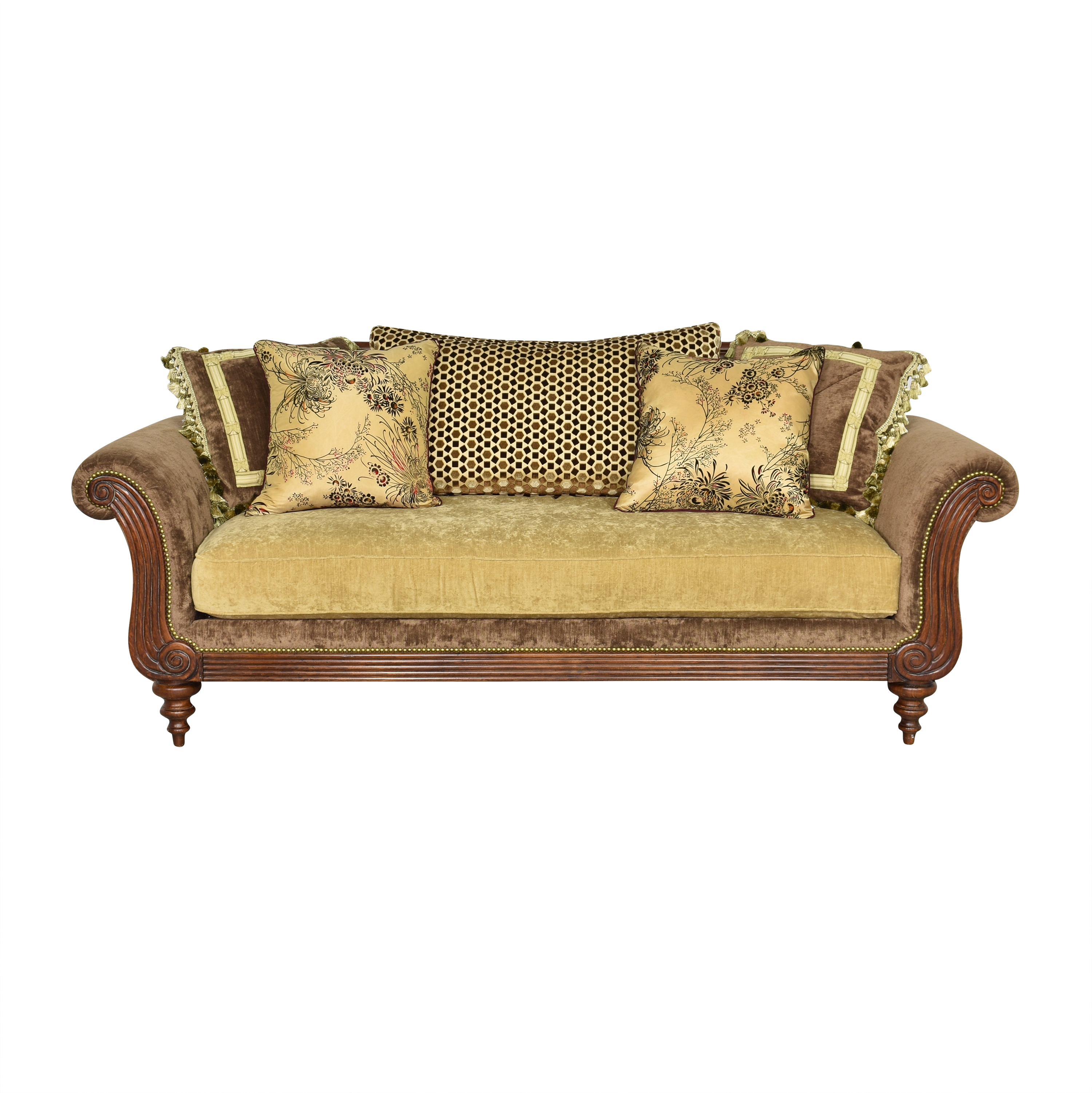 buy Woodland Classic Style Rolled Arms Sofa  Sofas