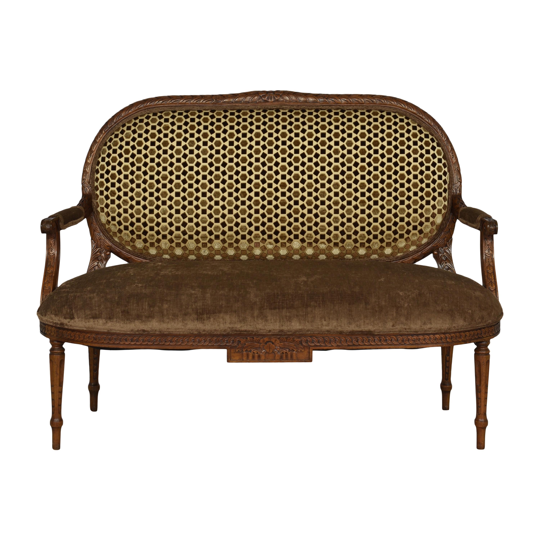 Woodland Furniture Oval Back Settee sale