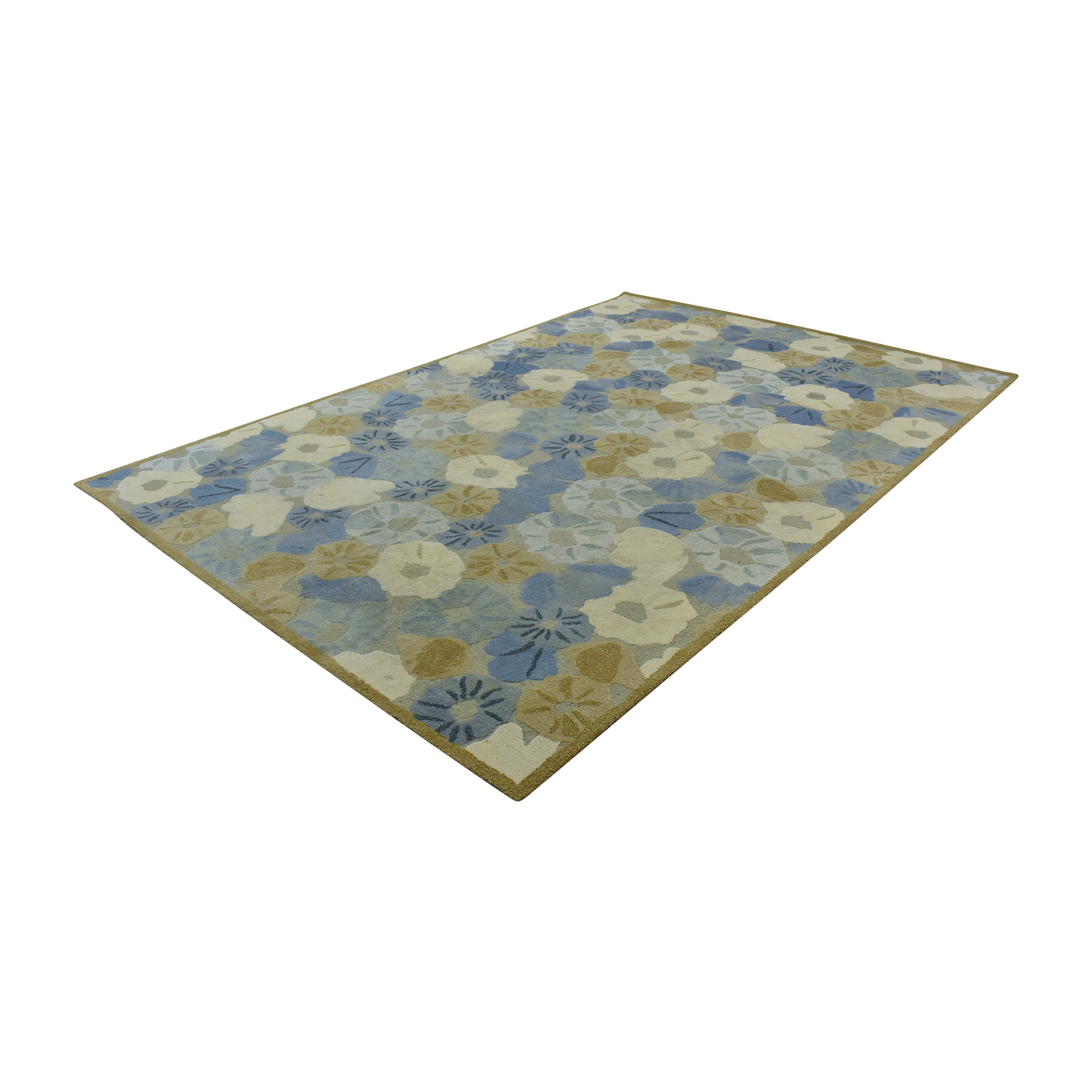 Abstract Floral Rug ma