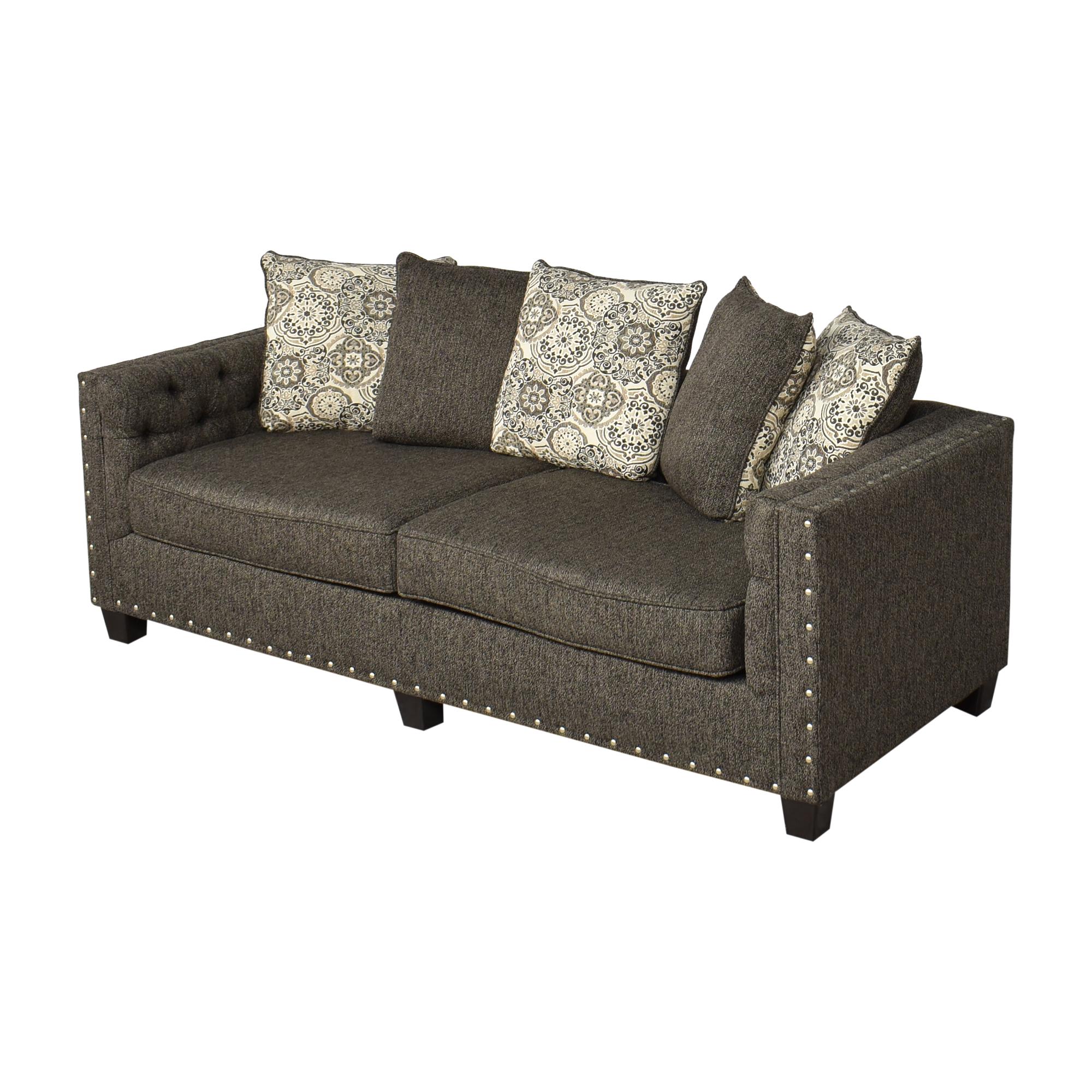 Hughes Furniture Hughes Furniture Nailhead Sofa dimensions
