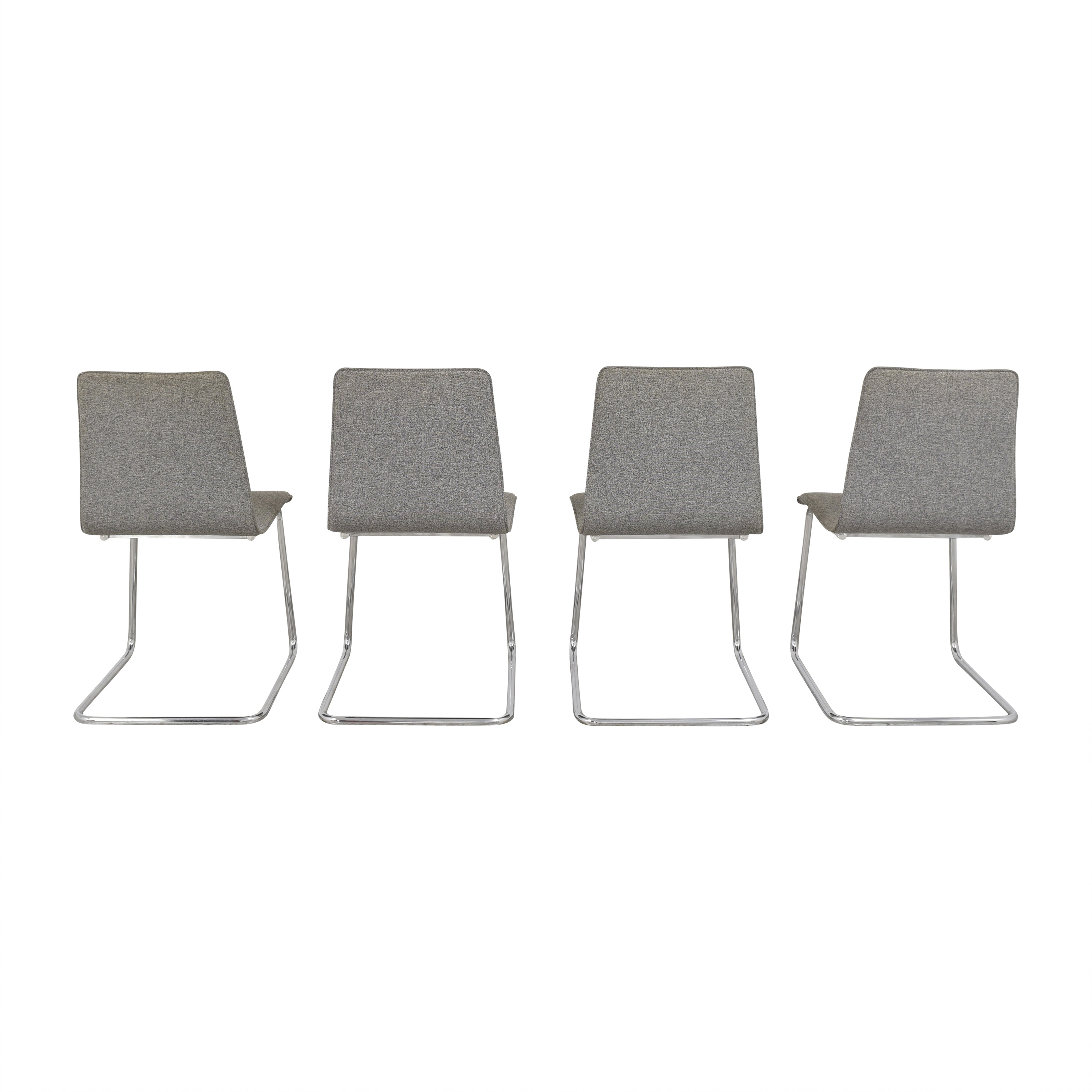 shop CB2 Pony Tweed Chairs CB2 Dining Chairs