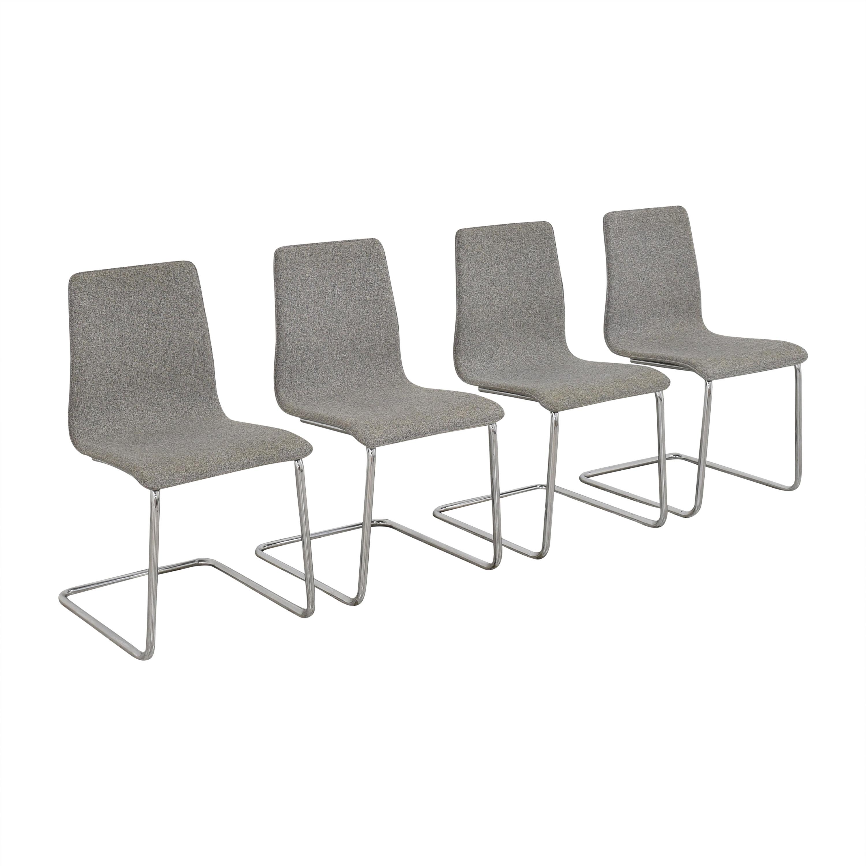 CB2 CB2 Pony Tweed Chairs ct
