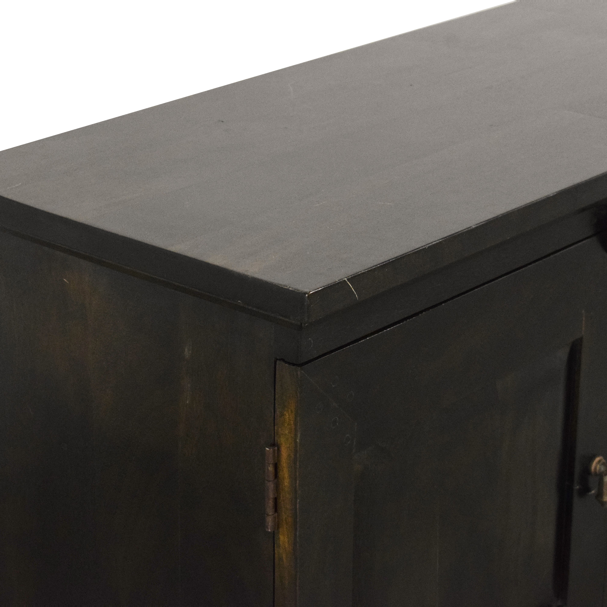 Crate & Barrel Crate & Barrel Custom Basque Media Console dark brown