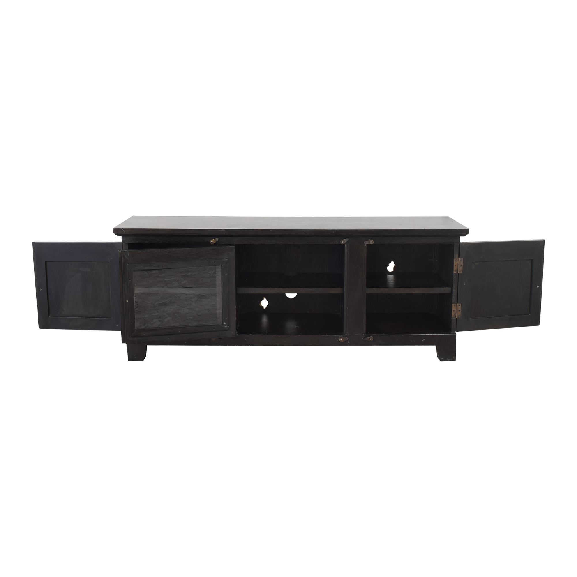 buy Crate & Barrel Custom Basque Media Console Crate & Barrel Storage