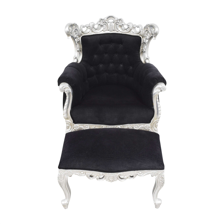 Custom Chair with Ottoman pa