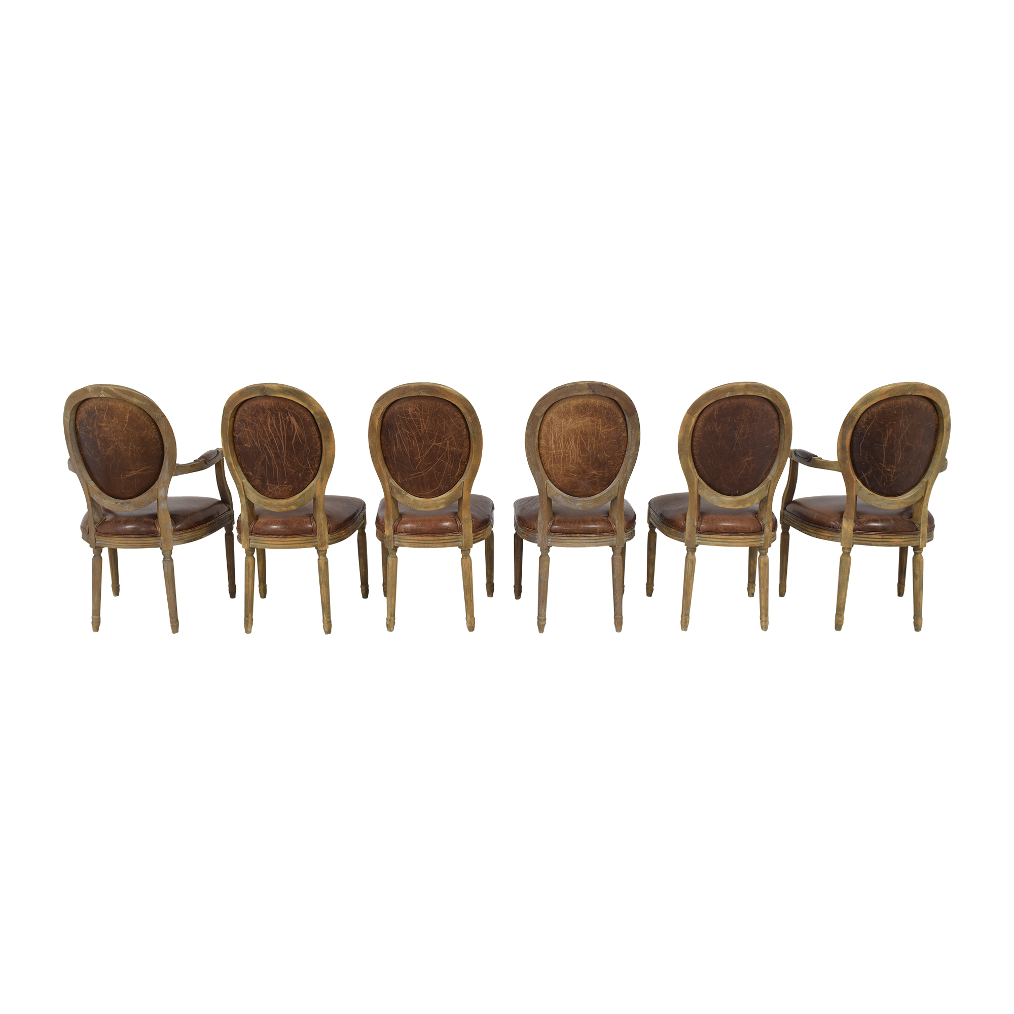 Restoration Hardware Restoration Hardware Vintage French Round Dining Chairs discount
