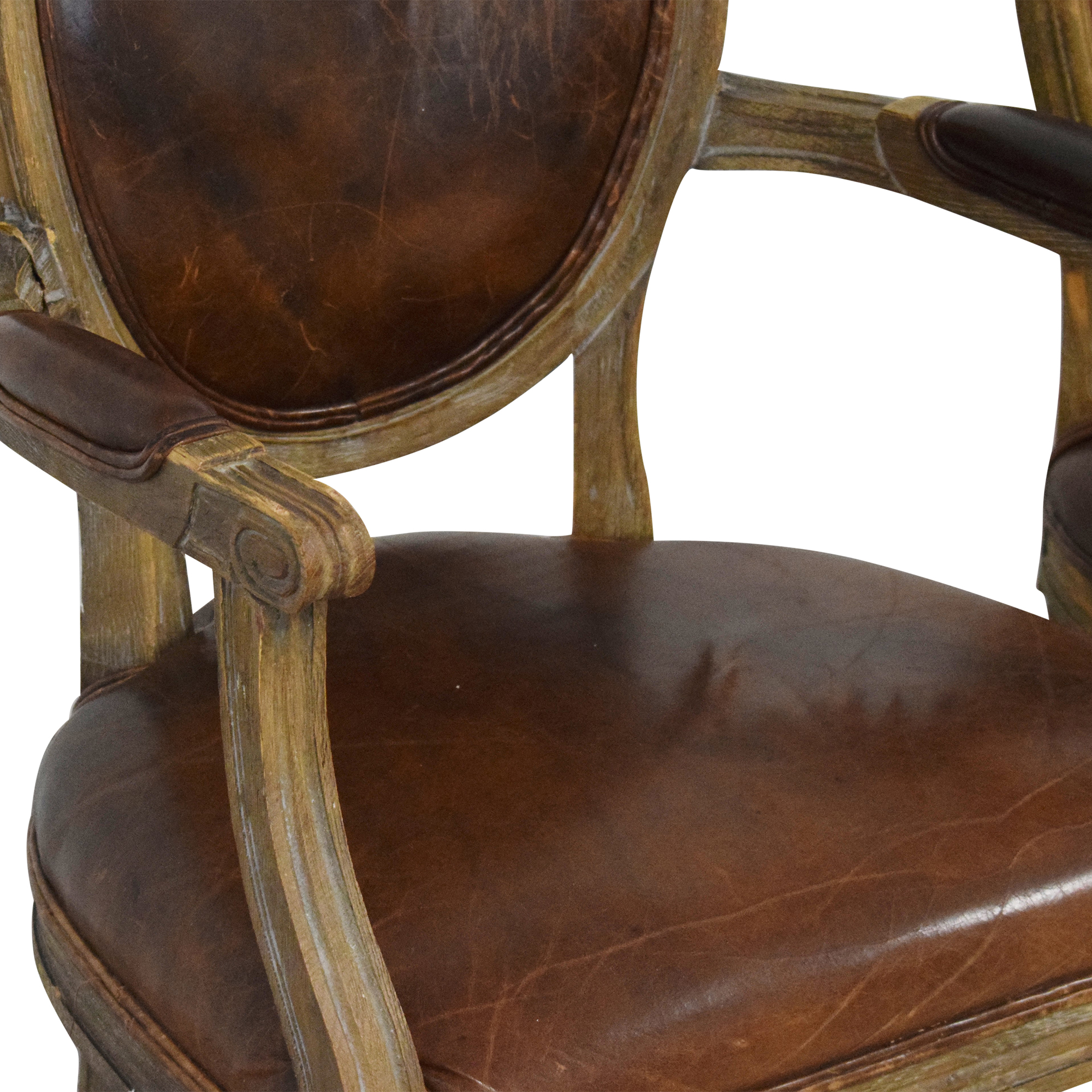 Restoration Hardware Restoration Hardware Vintage French Round Dining Chairs for sale