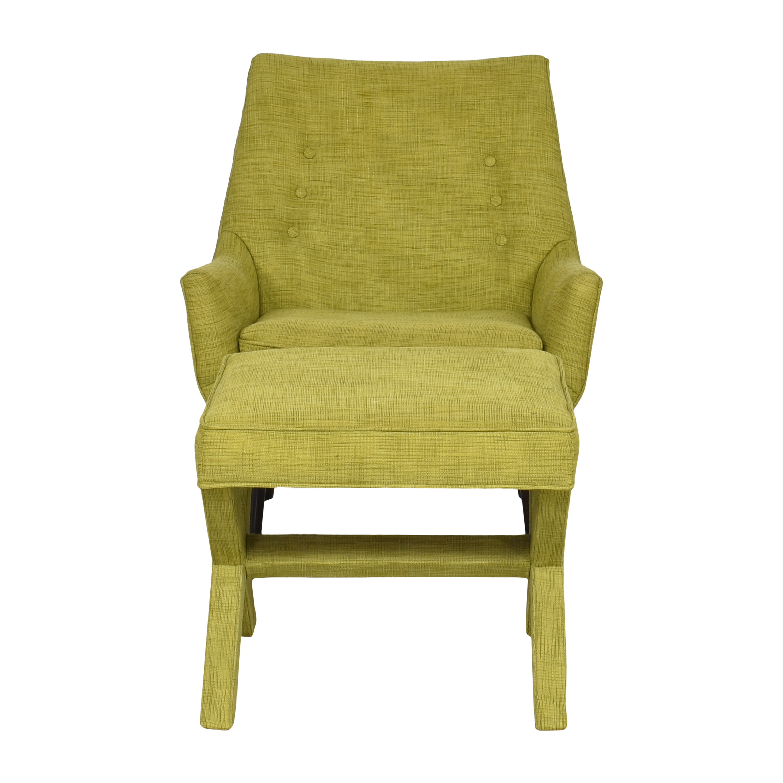 shop Jonathan Adler Mrs. Godfrey Chair with X Bench Jonathan Adler Accent Chairs