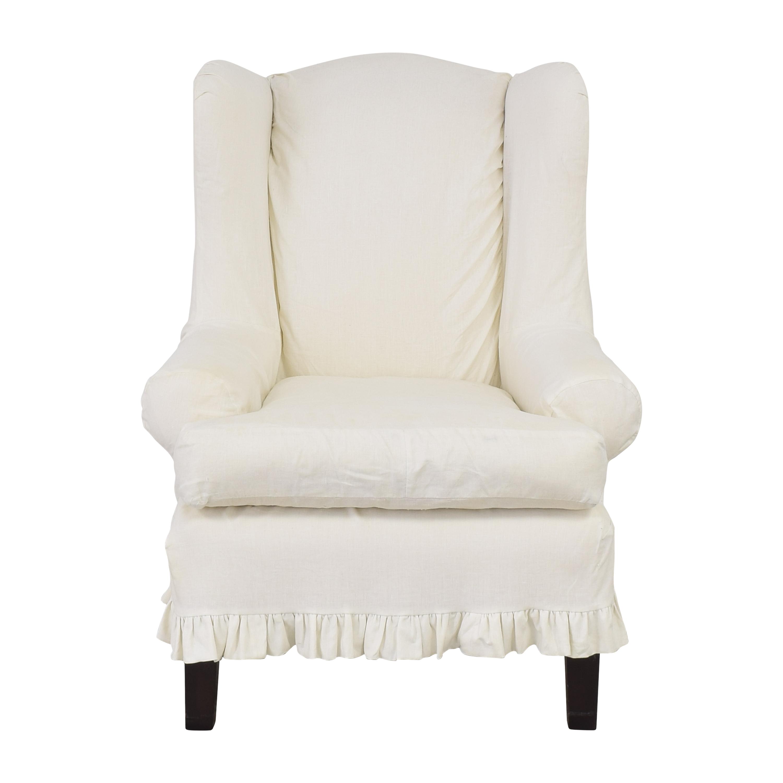 Bassett Furniture Bassett Slipcovered Accent Chair second hand