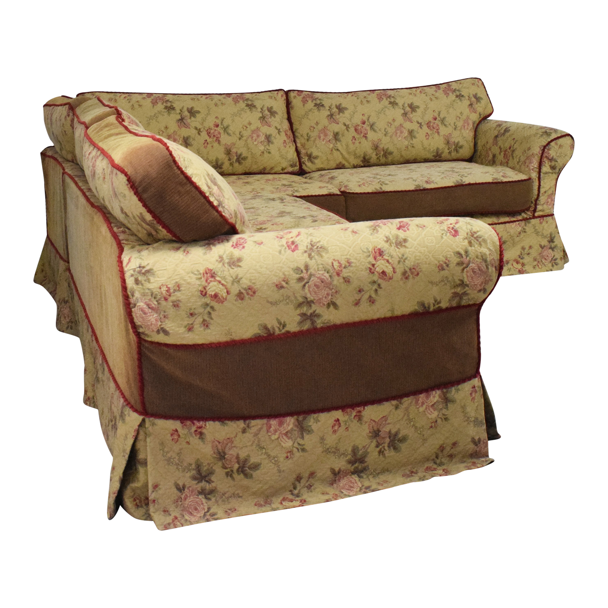 buy Platypus Roll Arm Slipcovered Sectional Sofa Platypus