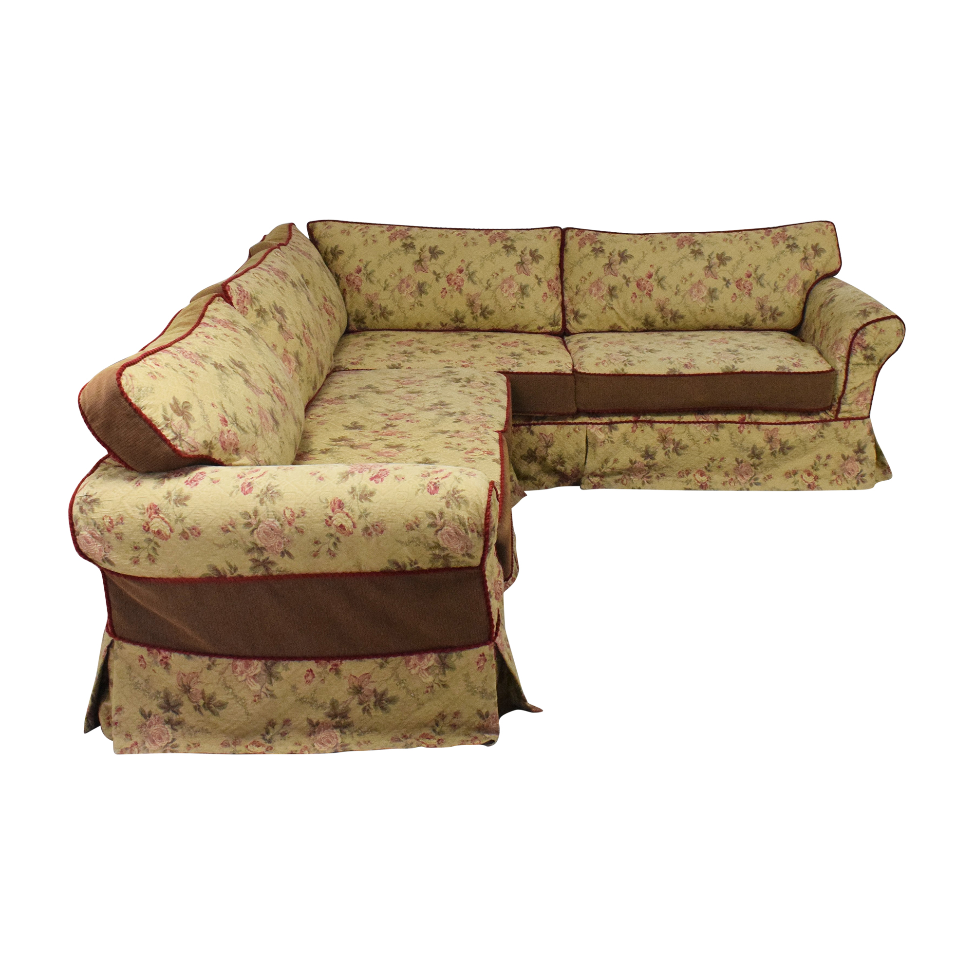 buy Platypus Platypus Roll Arm Slipcovered Sectional Sofa online