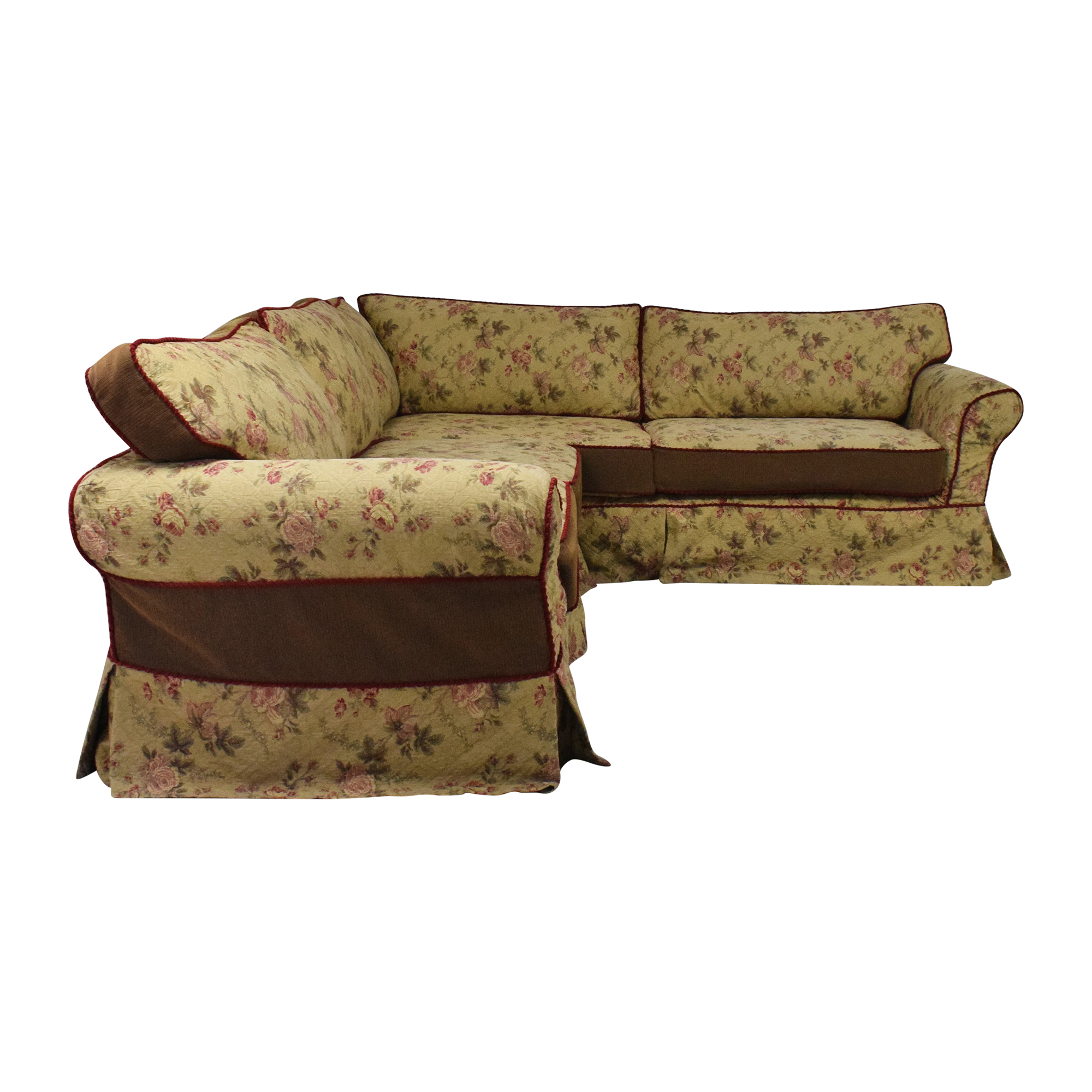 Platypus Platypus Roll Arm Slipcovered Sectional Sofa Sofas