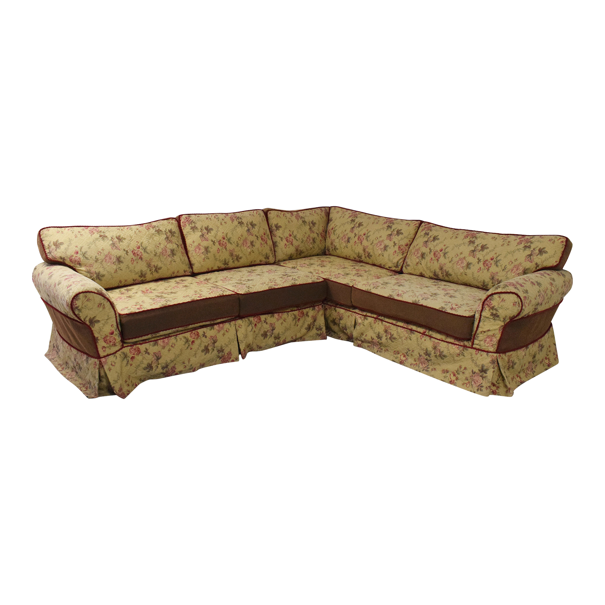 Platypus Platypus Roll Arm Slipcovered Sectional Sofa used