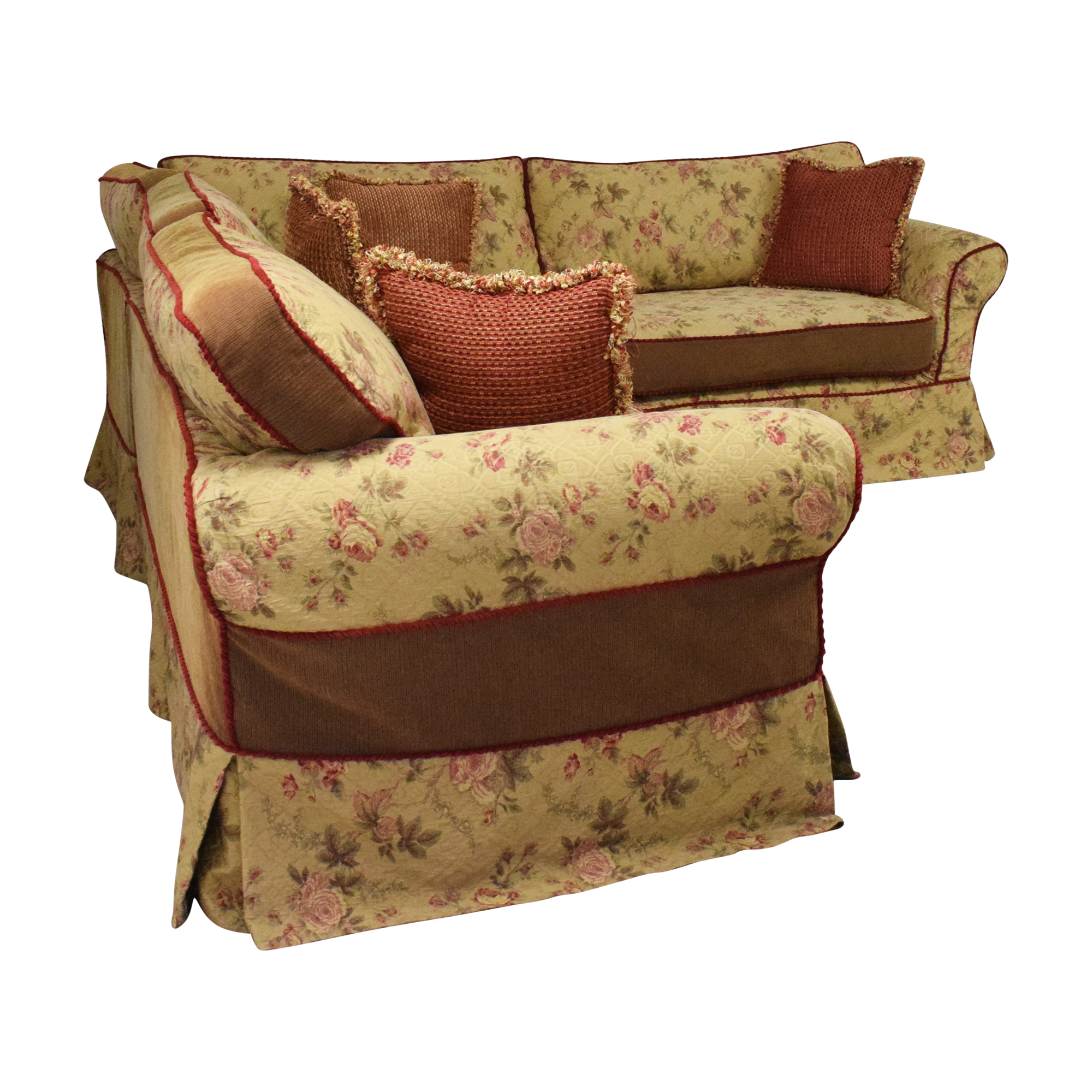 Platypus Platypus Roll Arm Slipcovered Sectional Sofa discount